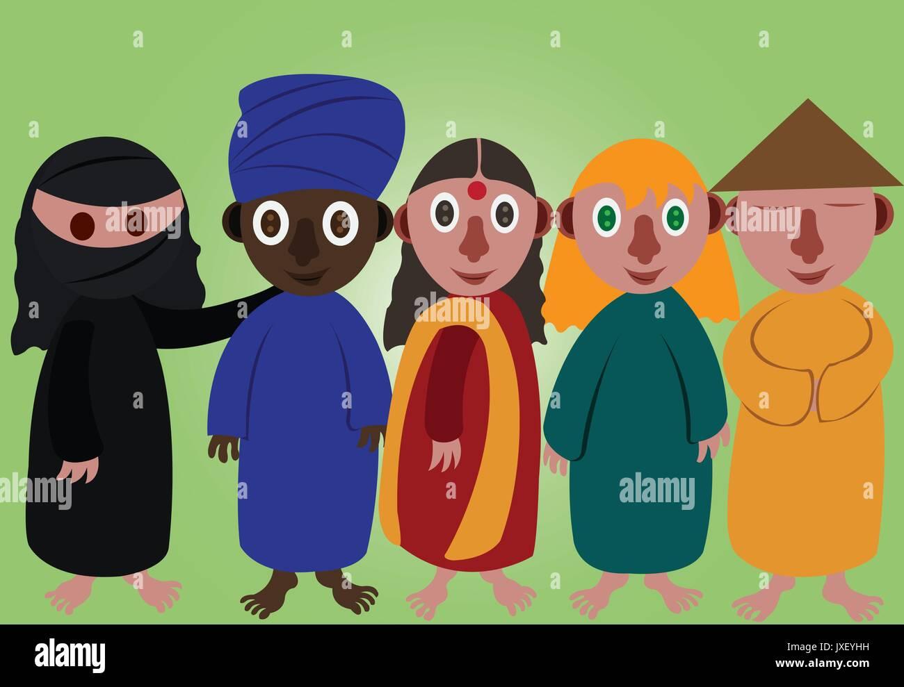 Aus verschiedenen Kulturen