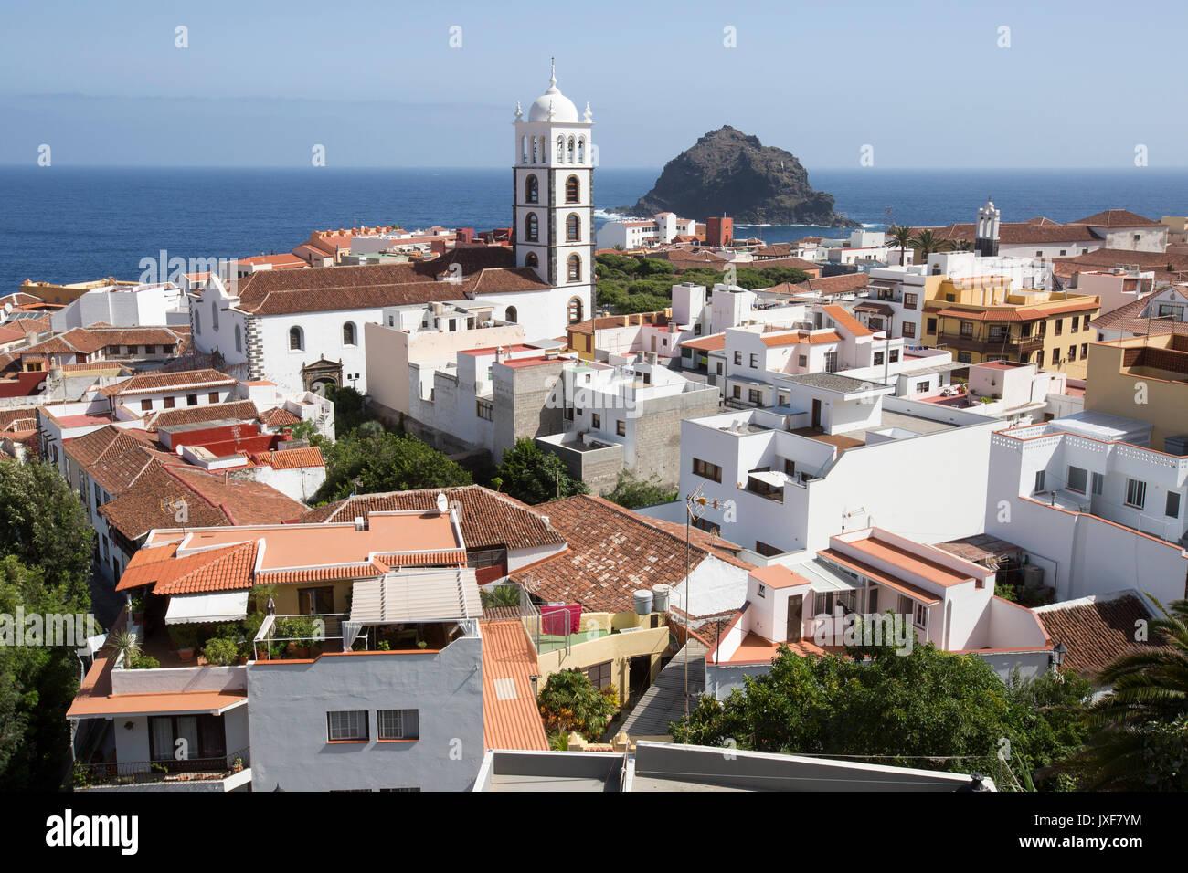 Die Stadt Garachico auf Teneriffa, Kanarische Inseln. Stockfoto