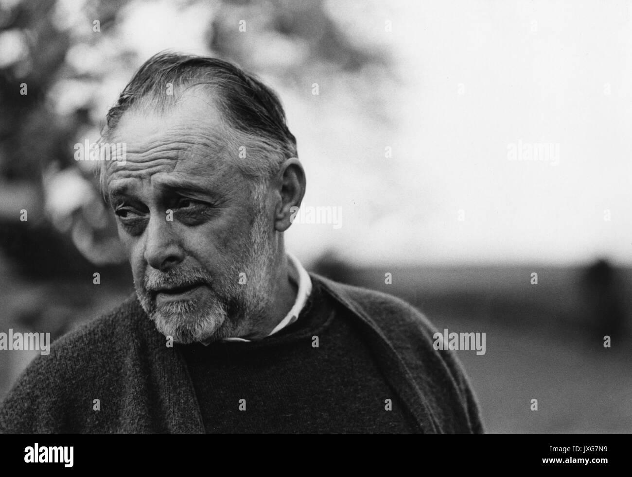 Charles Singleton, gegen Mittag Portrait, stehend, Schultern, drei Viertel view, ca 70 Jahre alt, 1969. Stockbild