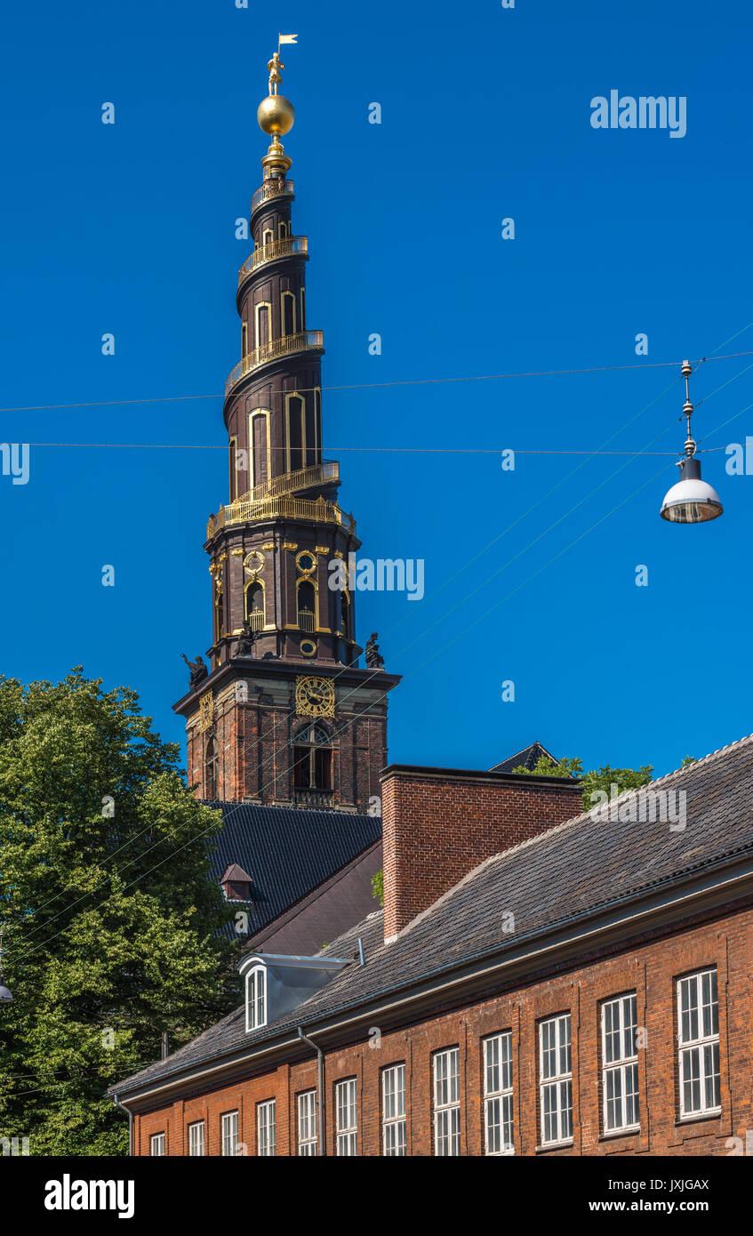 Kirche des Erlösers, Kopenhagen, Dänemark Stockbild