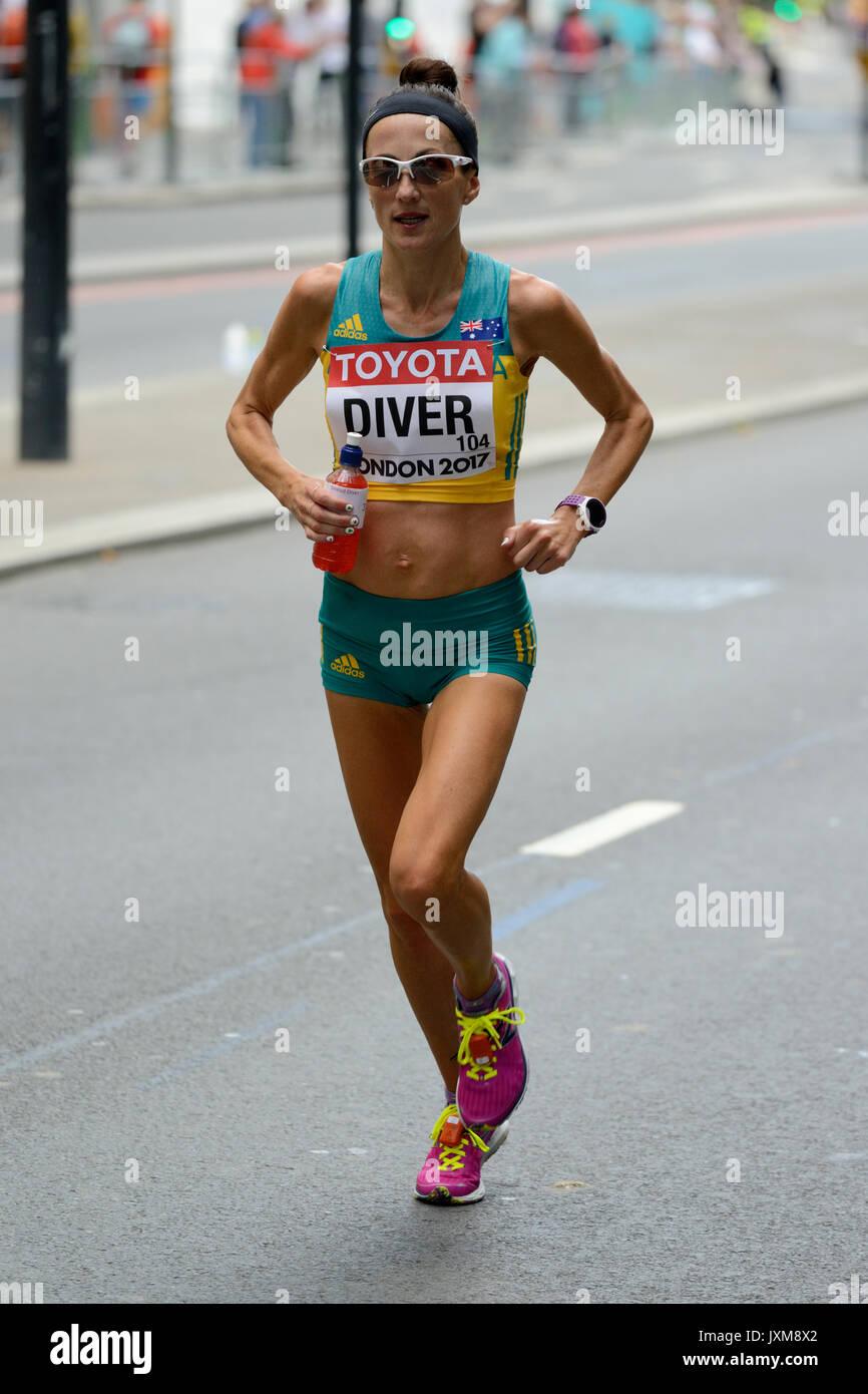 Sinead Taucher, Australien, 2017 IAAF wm Frauen Marathon, London, Vereinigtes Königreich Stockbild