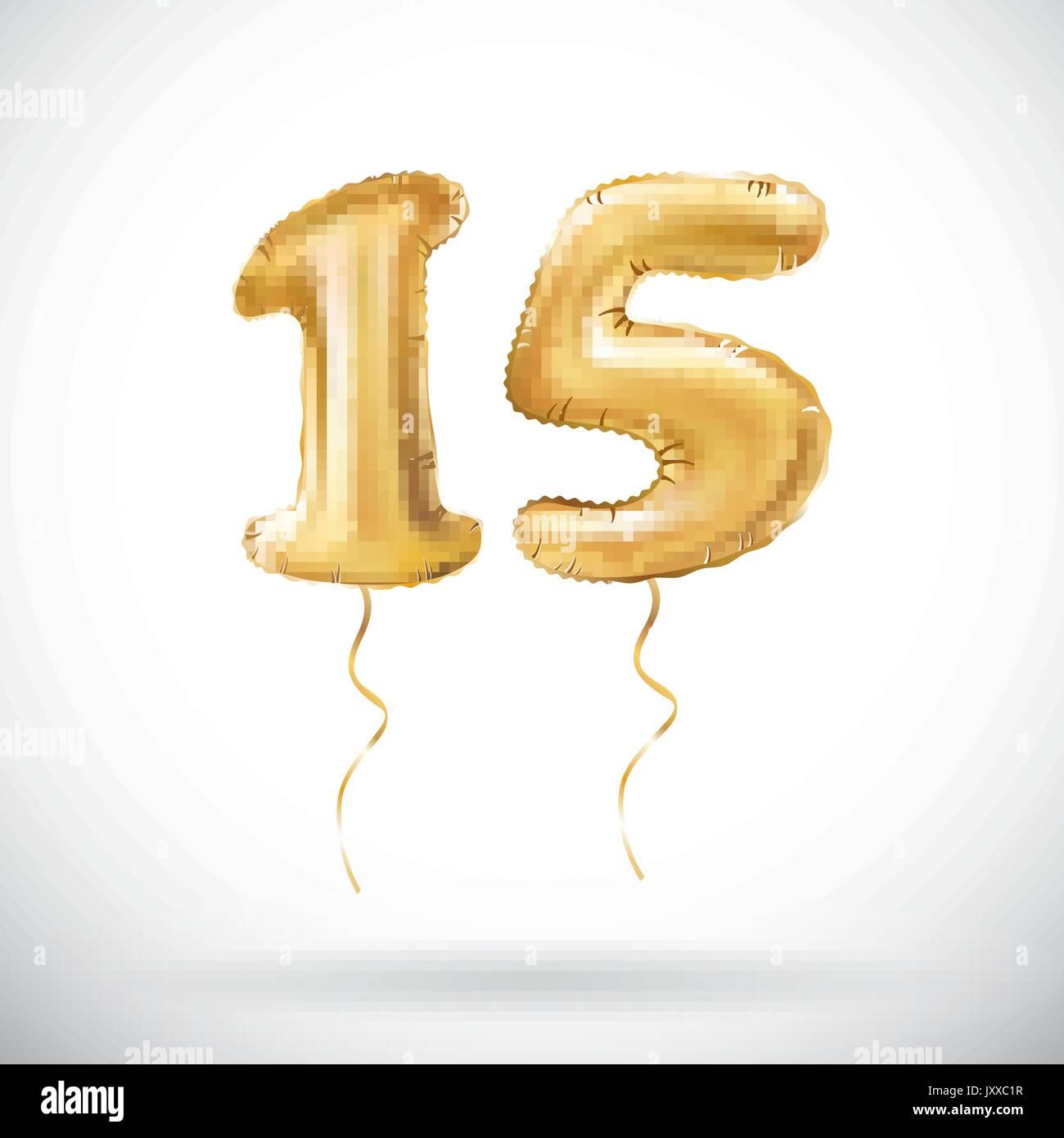 Wimpelkette 10m Zahl 15 Jahre Geburtstag Deko Party Girlande Ebay