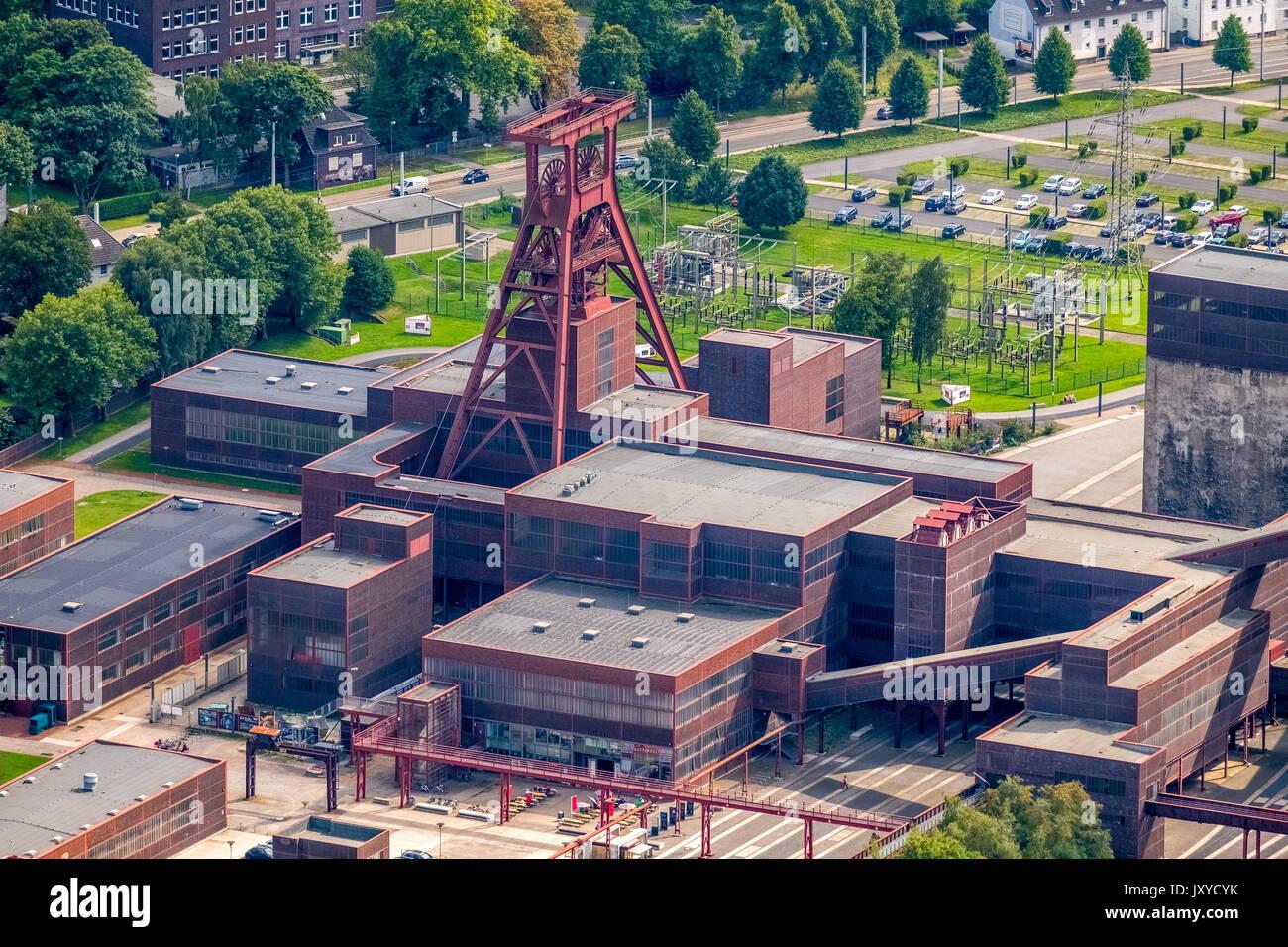 Areal Weltkulturerbe Zollverein Essen, Industriedenkmal, Welterbe der UNESCO, Folkwang Universität der Künste, Stockbild