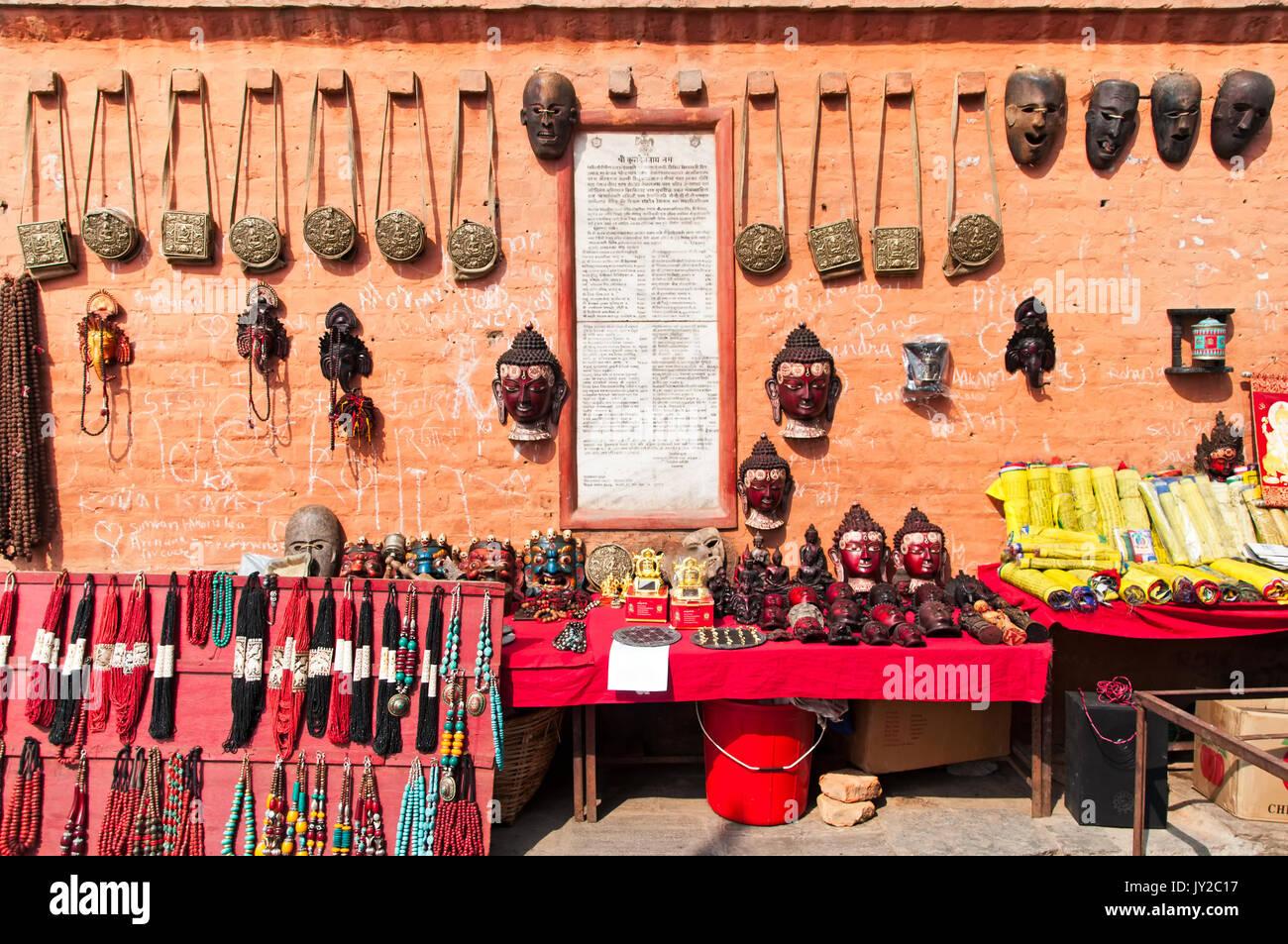 nepalese souvenirs kathmandu nepal stockfotos nepalese souvenirs kathmandu nepal bilder alamy. Black Bedroom Furniture Sets. Home Design Ideas