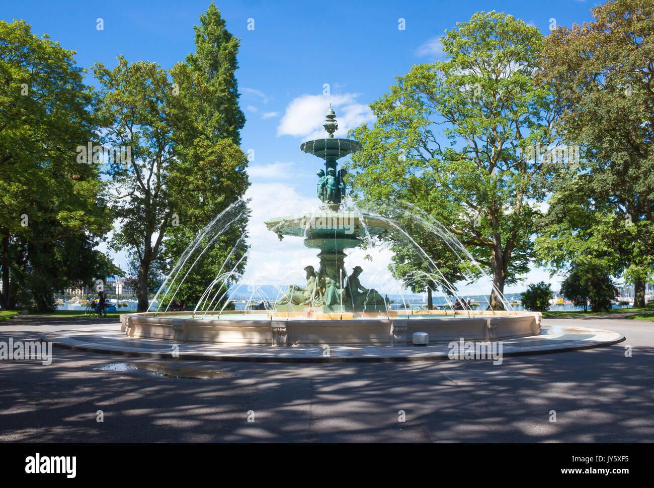 Geneva fountain stockfotos geneva fountain bilder alamy for Jardin anglais geneve suisse