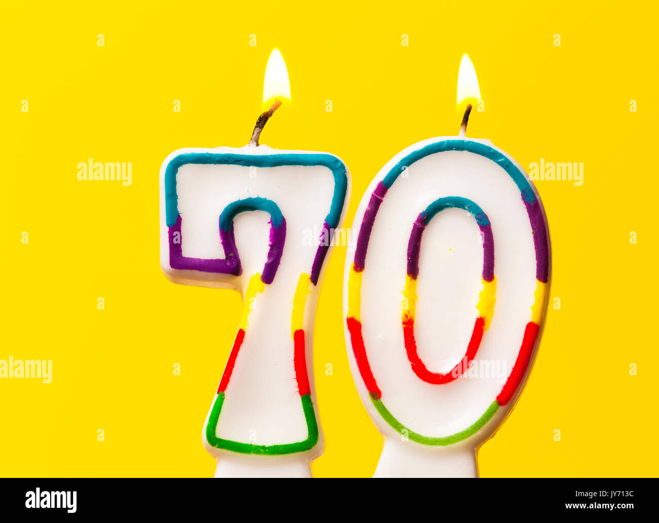 kerze 70 geburtstag