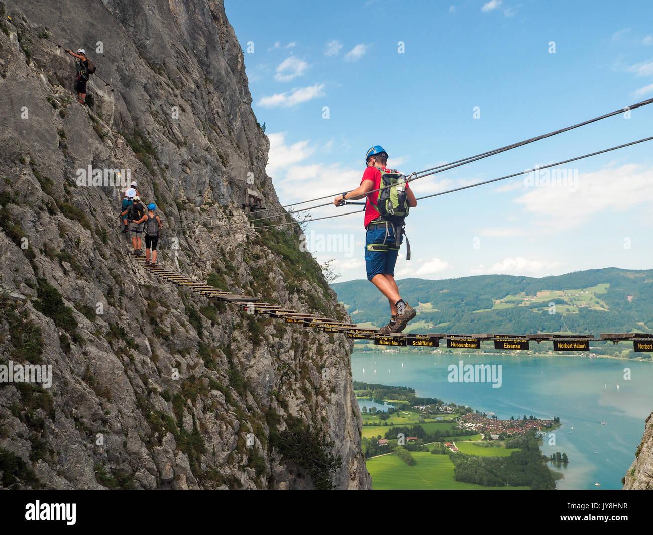 Klettersteig Hallstatt : Waldbrand echernwand klettersteig