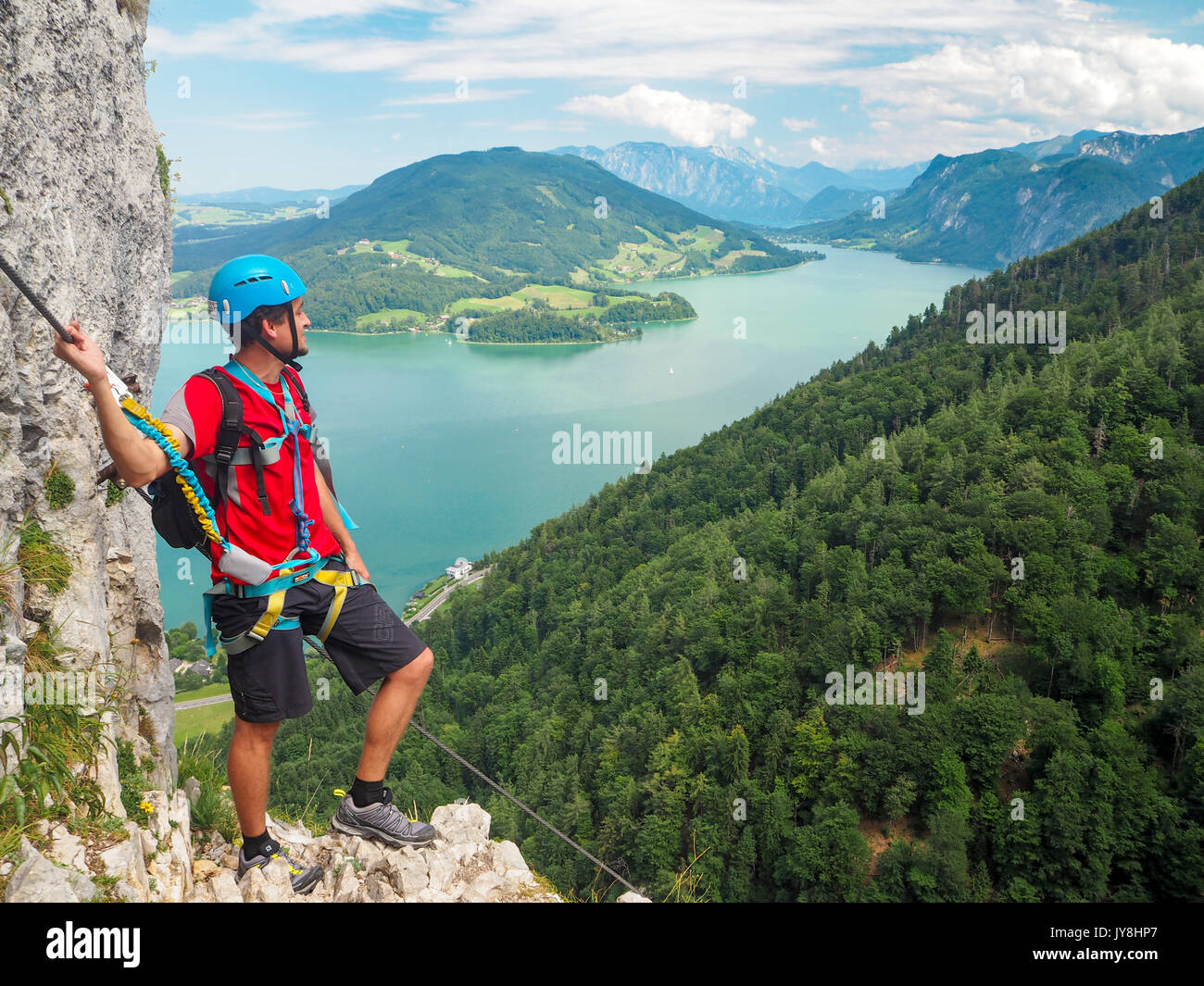 Klettersteig Attersee : Mahdlgupf klettersteig c d am attersee youtube