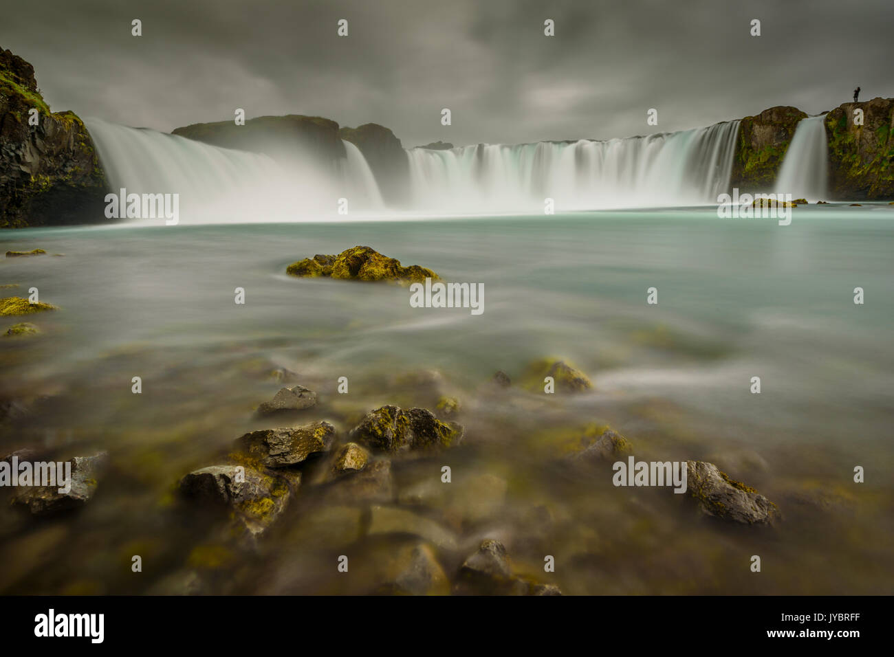 Berühmte Godafoss in Island. Stockbild