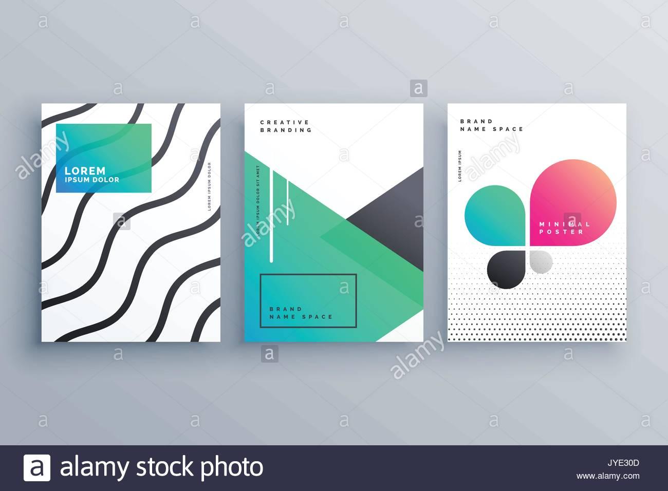 Minimale Broschüren Flyer Deckblatt Design für Ihr Unternehmen