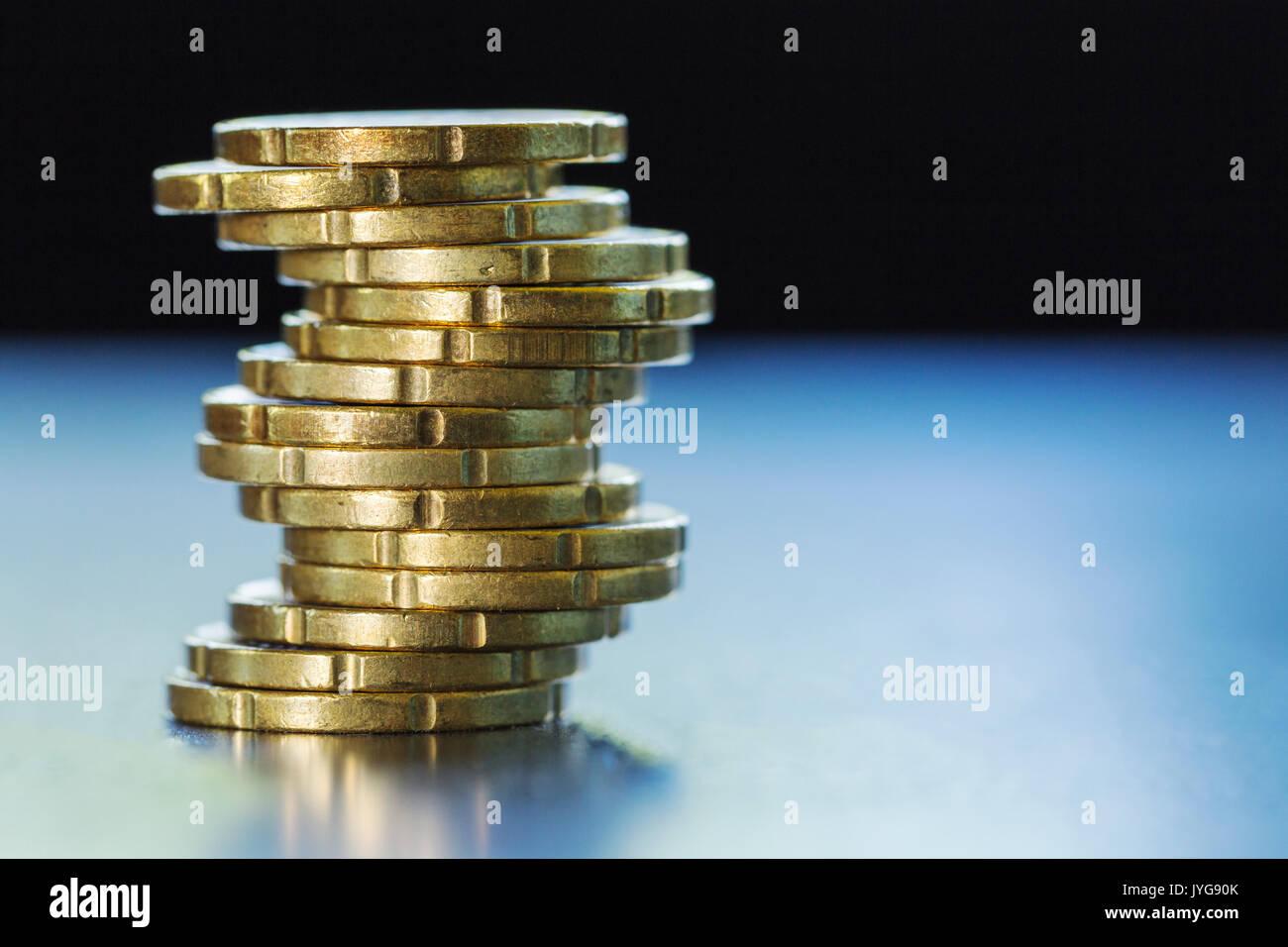 Gold Glänzend 20 Euro Cent Münzen Stockfoto Bild 154636963 Alamy