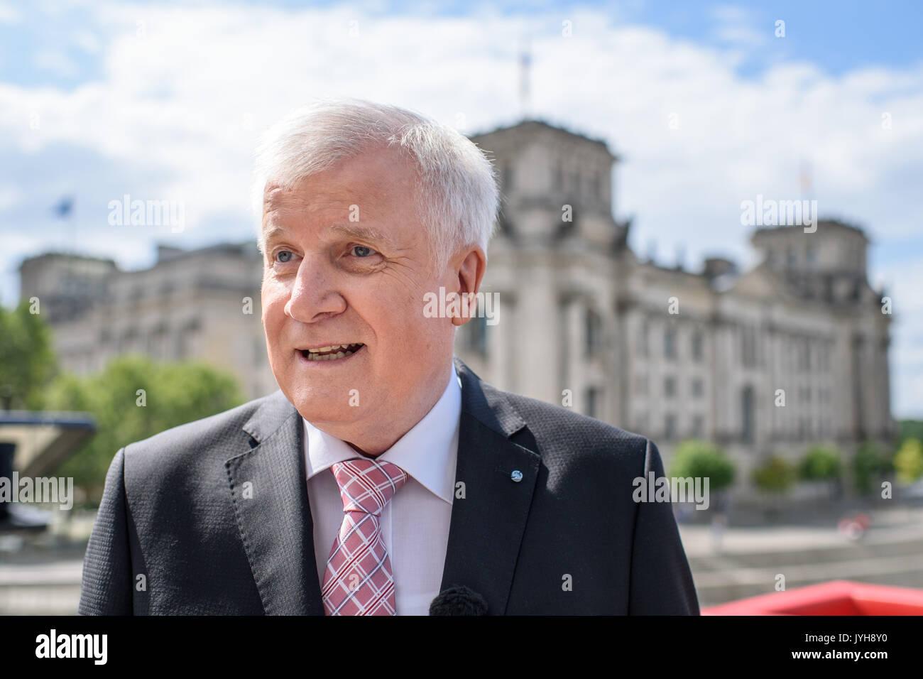 Berlin Deutschland 20 Aug 2017 Horst Seehofer Ministerpräsident