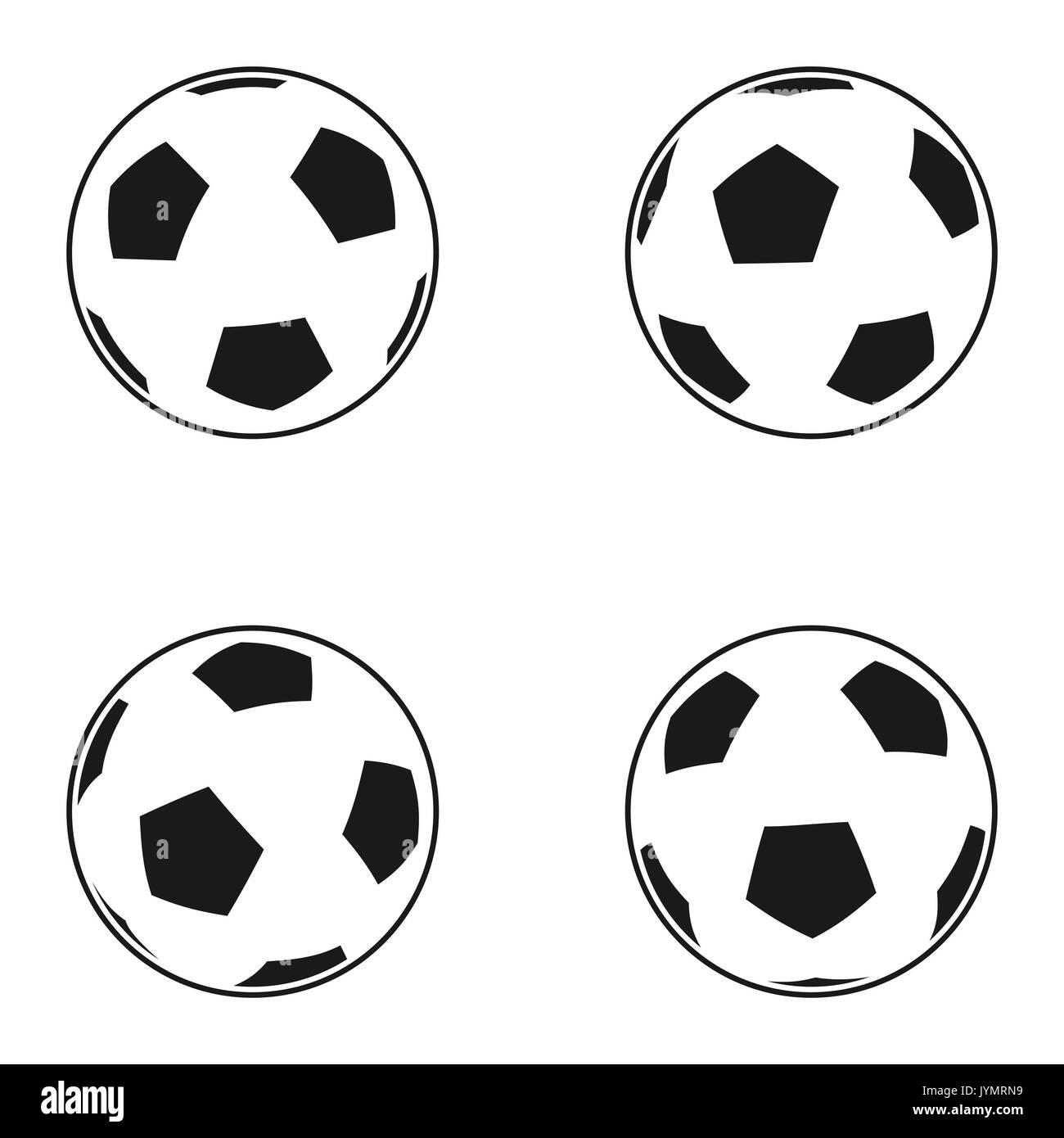 Icon Set Von Ball Fur Den Europaischen Fussball Fussball