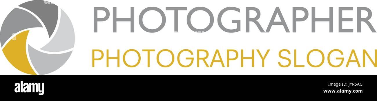 Vektor Fotografie Shutter Irisblende Logo Auf Weißem Hintergrund