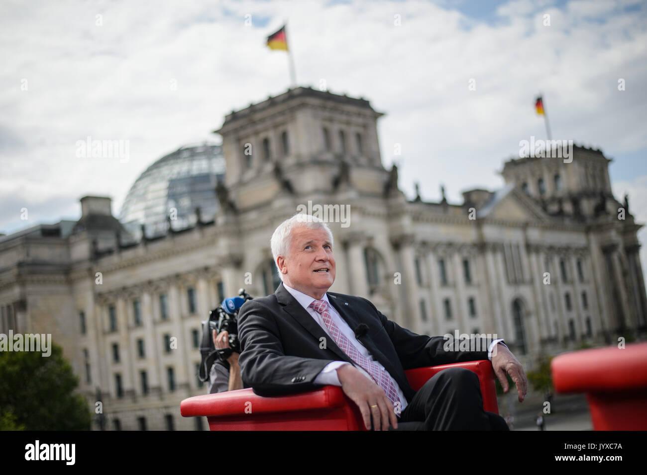 Berlin Deutschland 20 Aug 2017 Dpatop Horst Seehofer