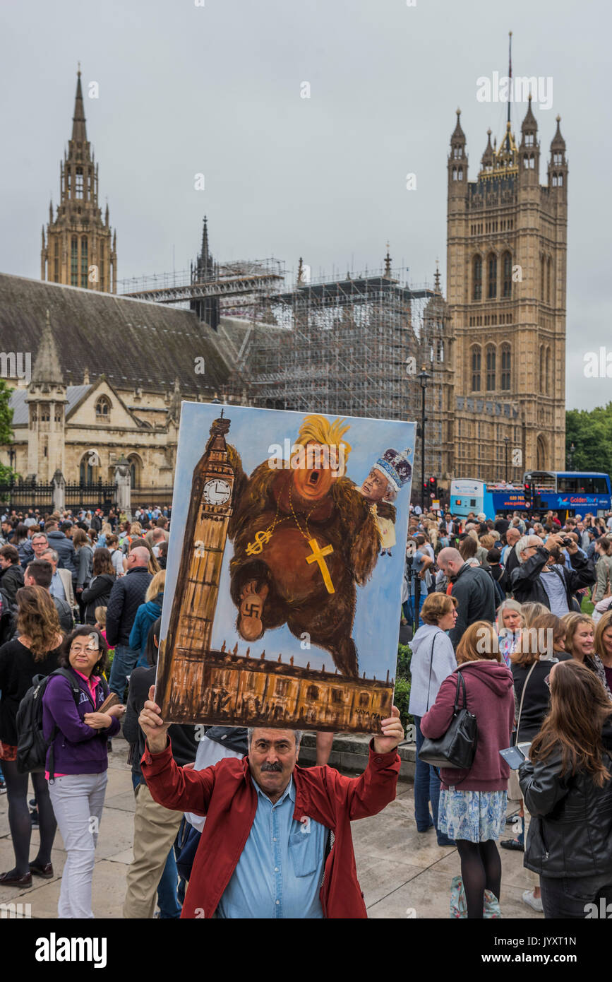 London, Großbritannien. 21 Aug, 2017. Politische Satire den kommenden Stille - Big Ben Bongs seinen letzten für Stockfoto