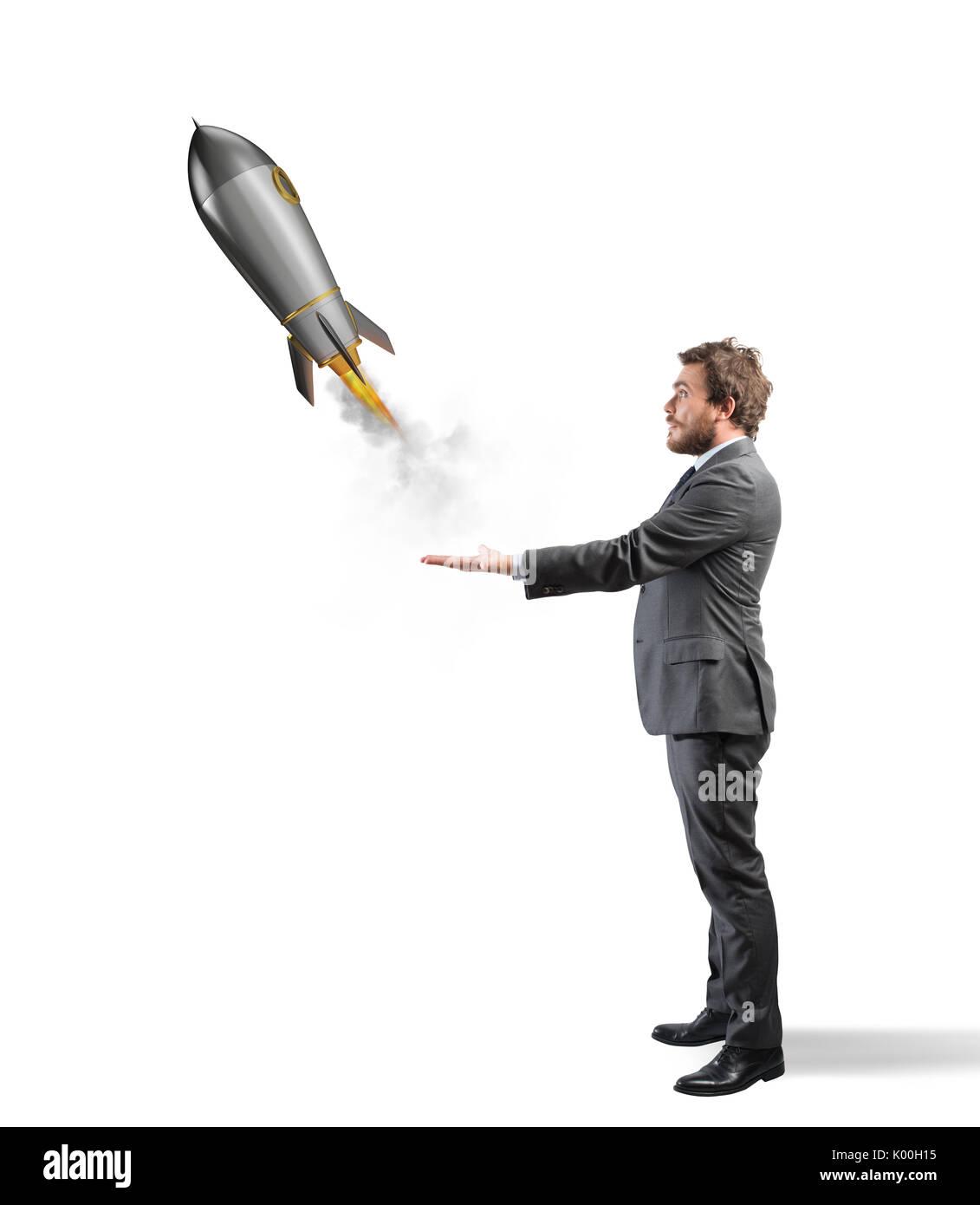 Start eines neuen Unternehmens. Konzept des Neugeschäfts Stockbild