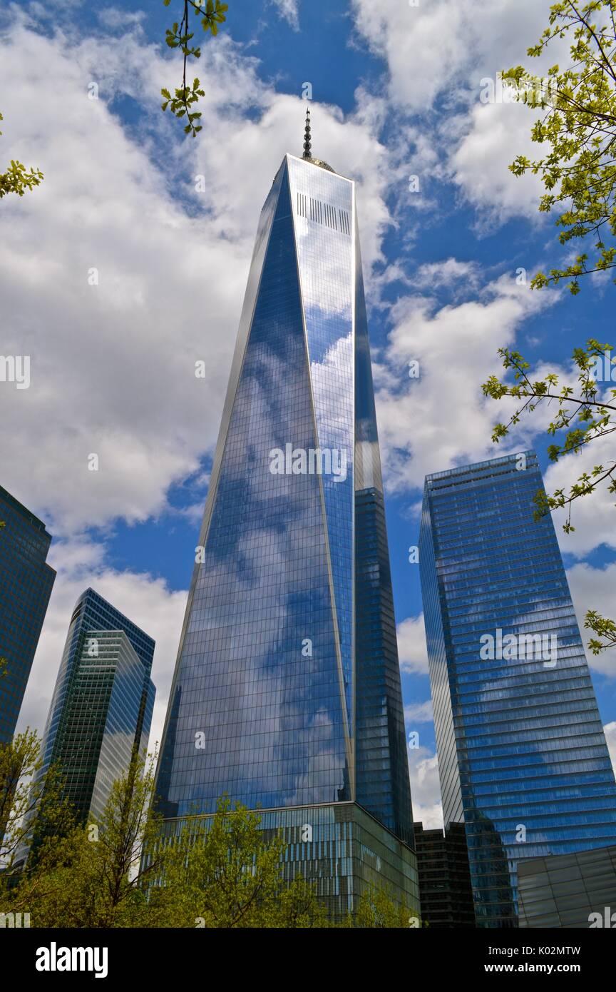 Freedom Tower in New York City, Sommer, Tag. Stockbild