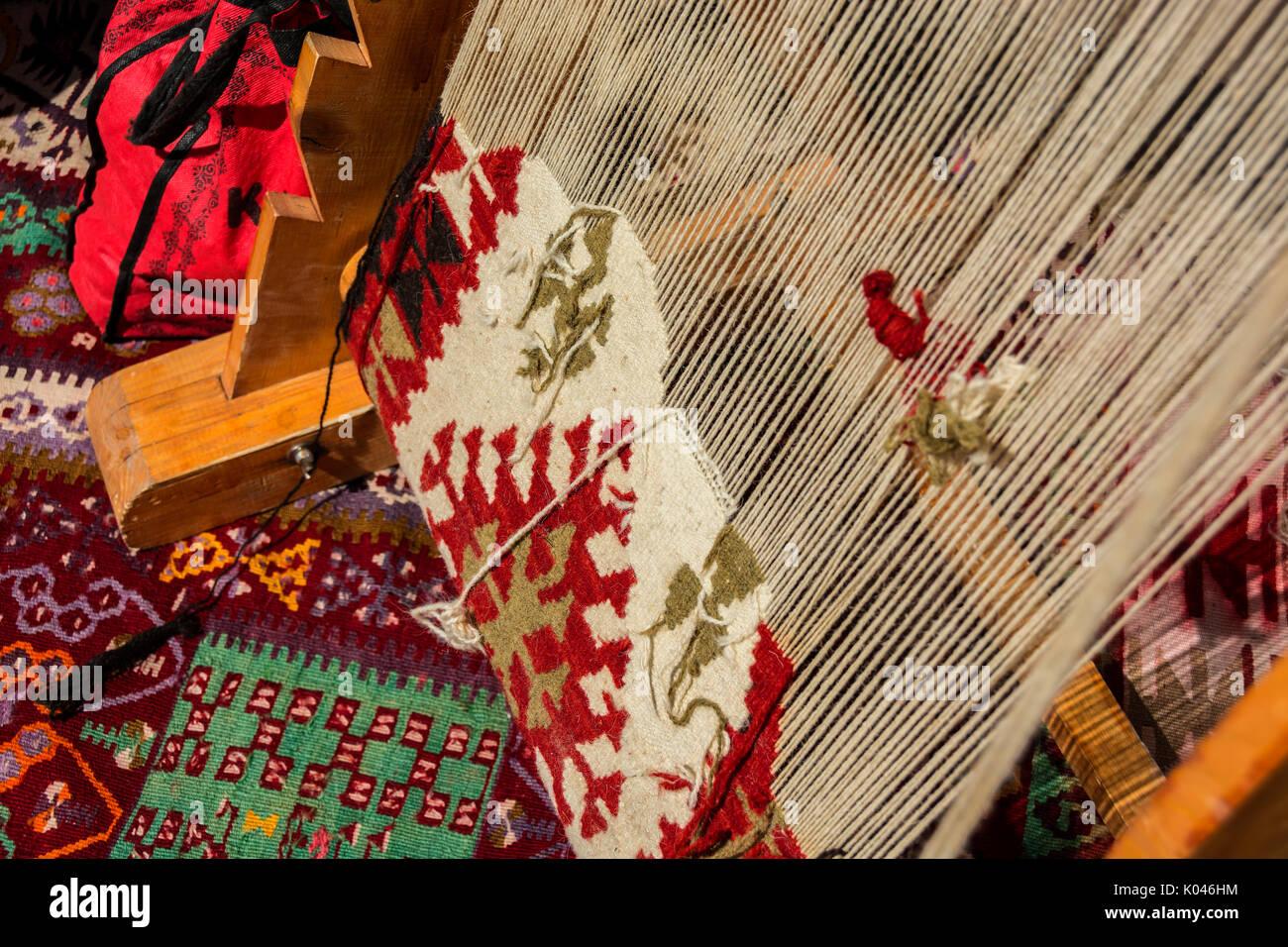 Teppich Weben Webstuhl Stockfoto Bild 154986320 Alamy