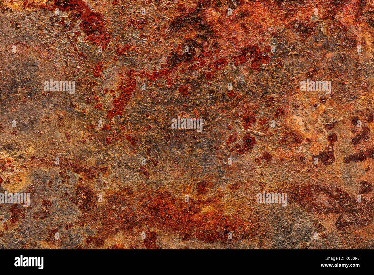 Stark verrostet grunge Blech Textur für Hintergründe Stockbild