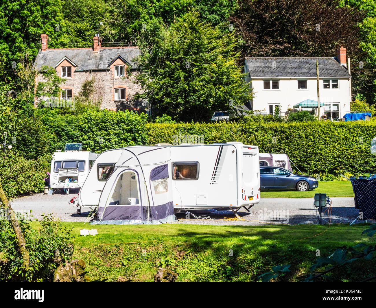 Ein kleiner Campingplatz in Exmoor, Somerset. Stockbild