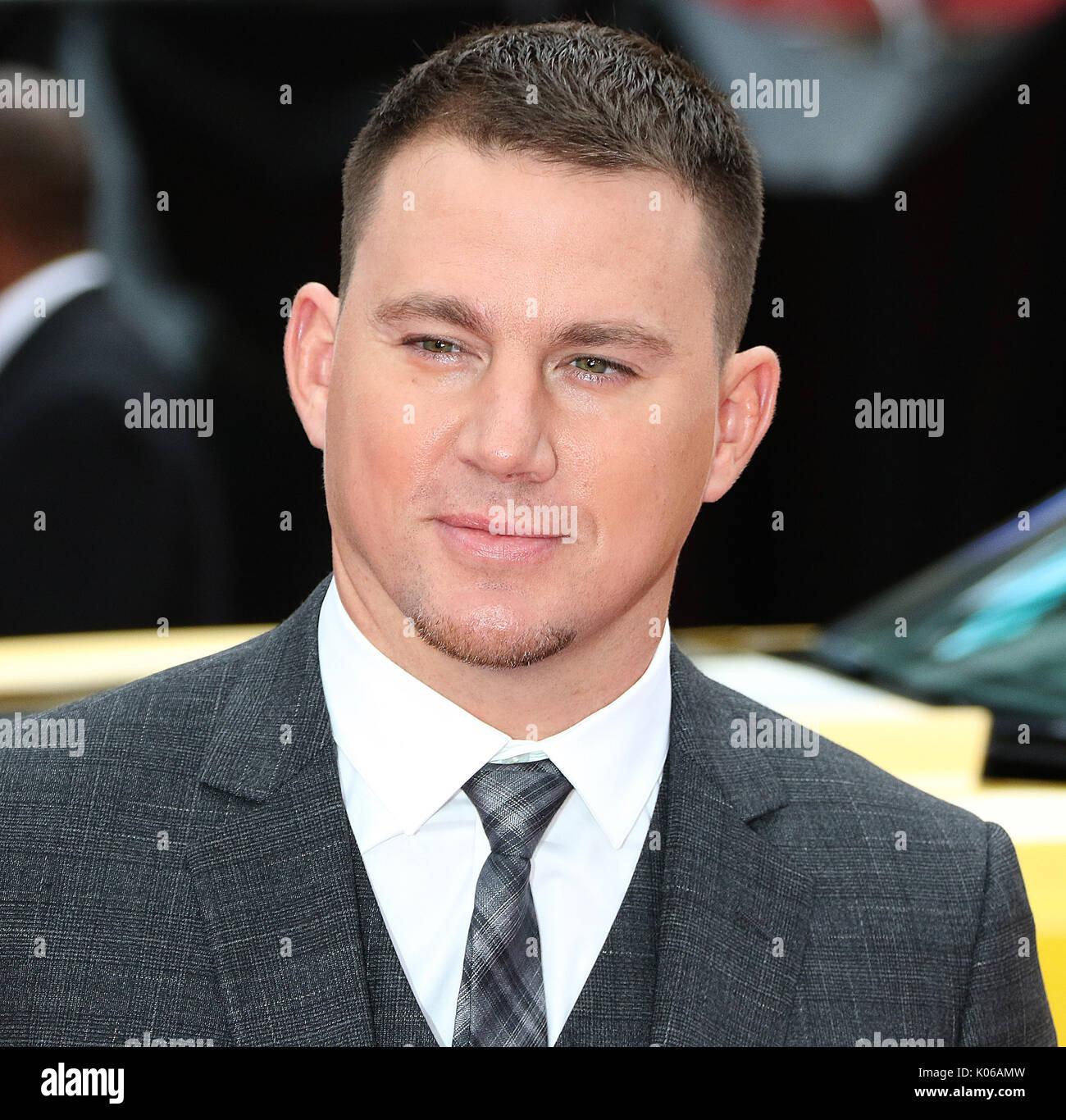 London, Großbritannien. 21 Aug, 2017. Channing Tatum, Logan Lucky-UK Film Premiere, Leicester Square, London, Großbritannien, Stockfoto