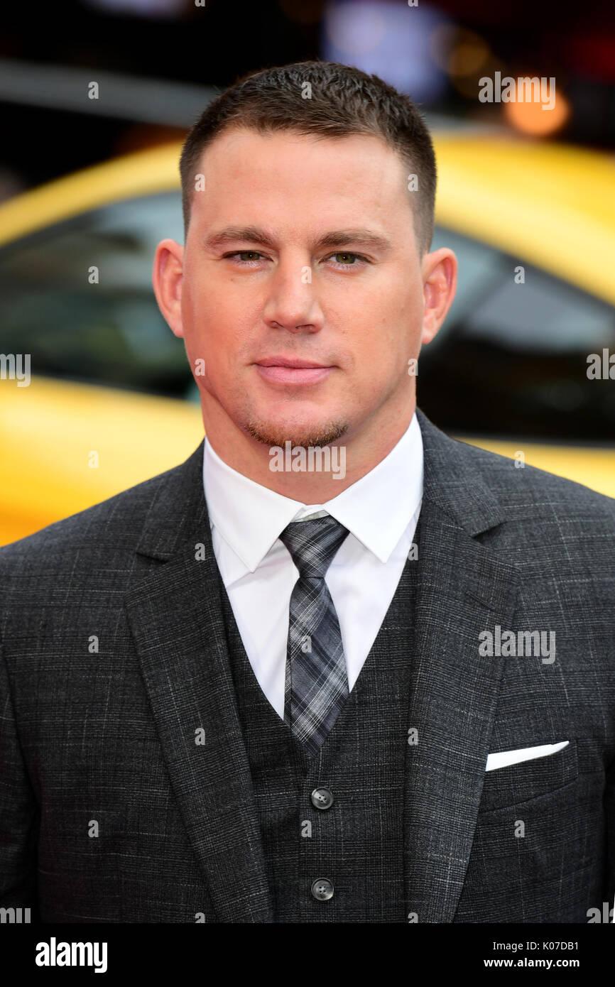 Channing Tatum Teilnahme an der Logan Lucky UK Premiere auf der Vue West End in Leicester Square, London statt. Stockfoto