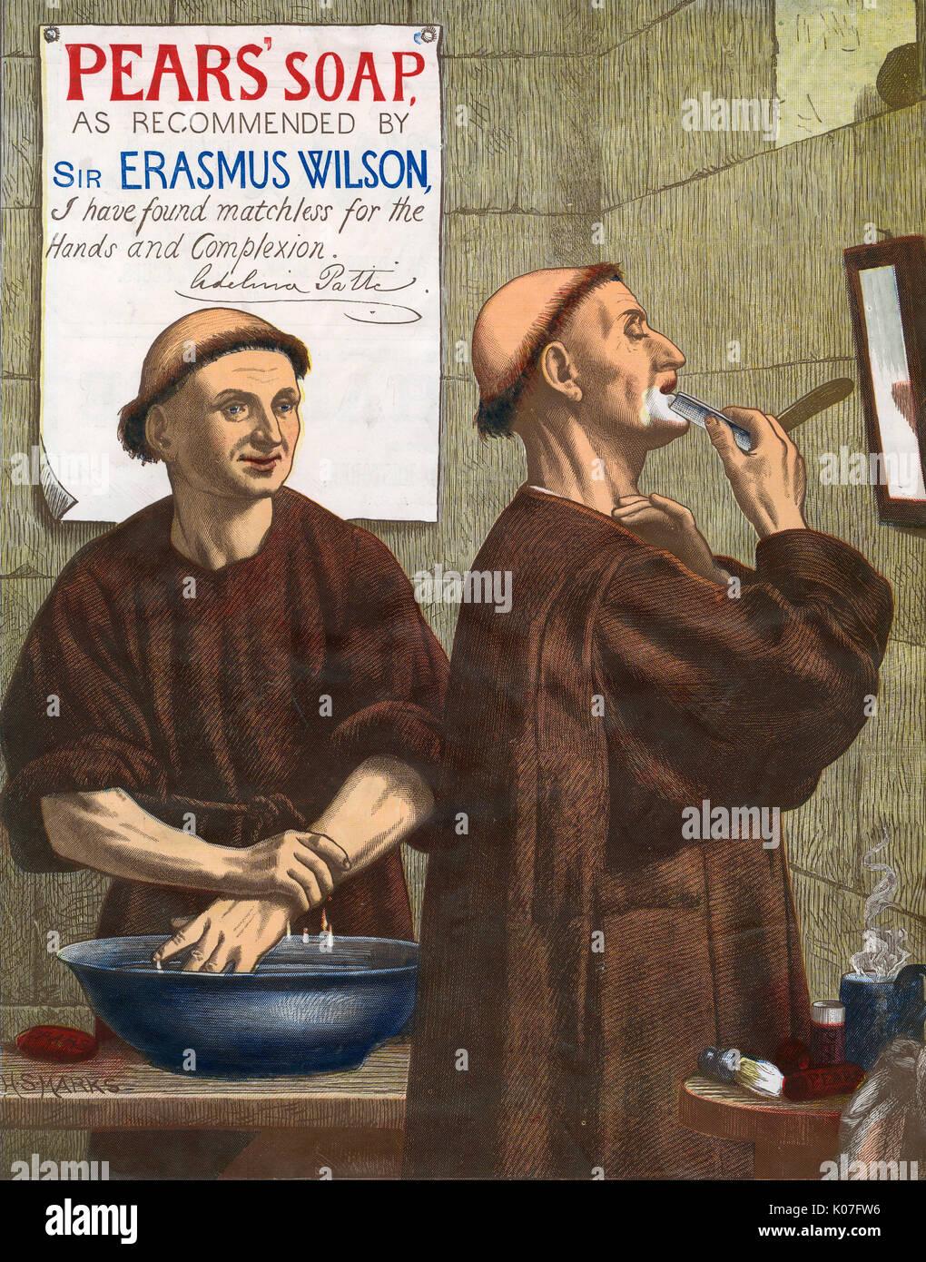 Birnen - matchless Seife für die Hände und Teint (auch für Mönche!) Datum: 1891 Stockbild
