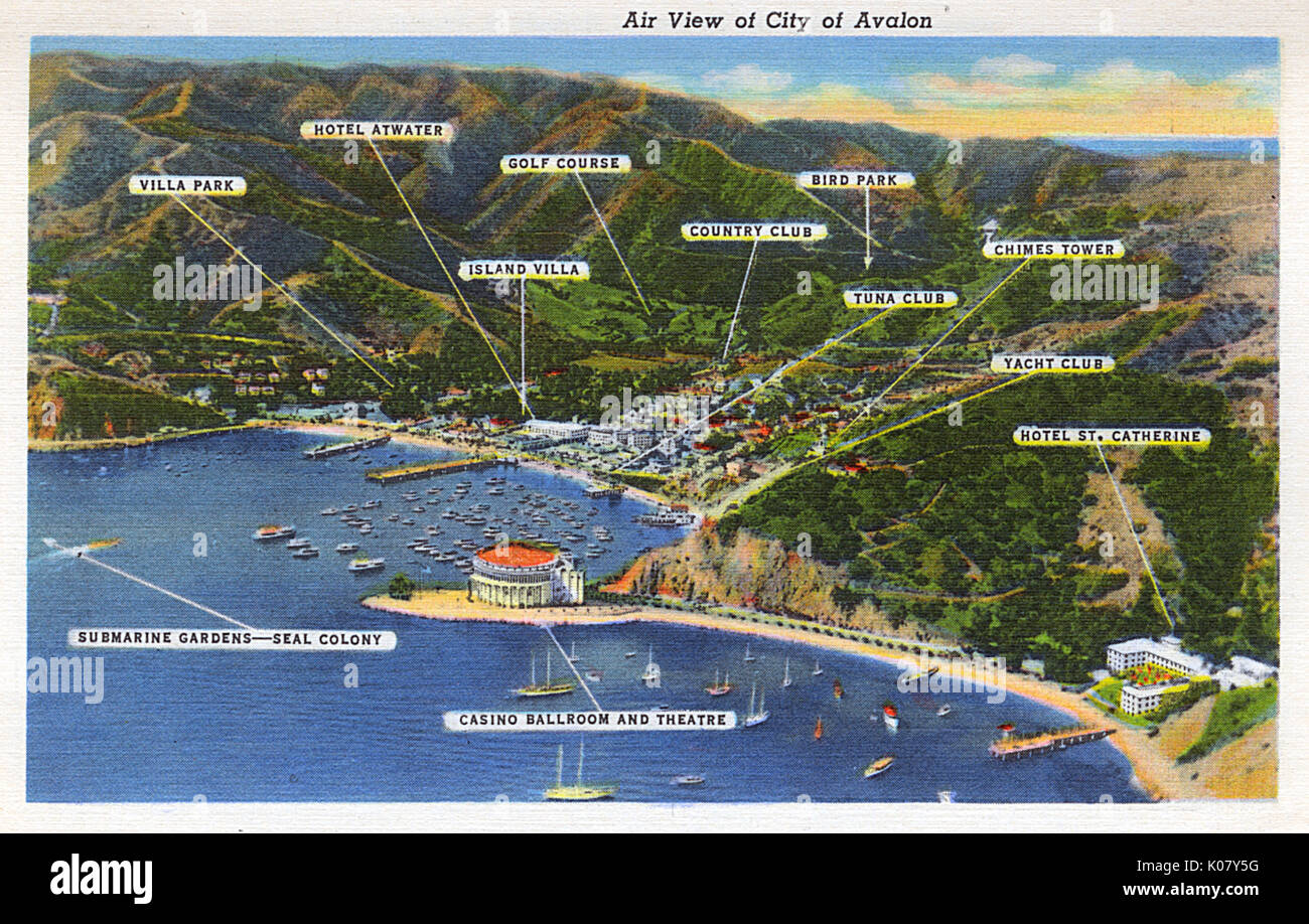 Catalina Island Hotels Map on