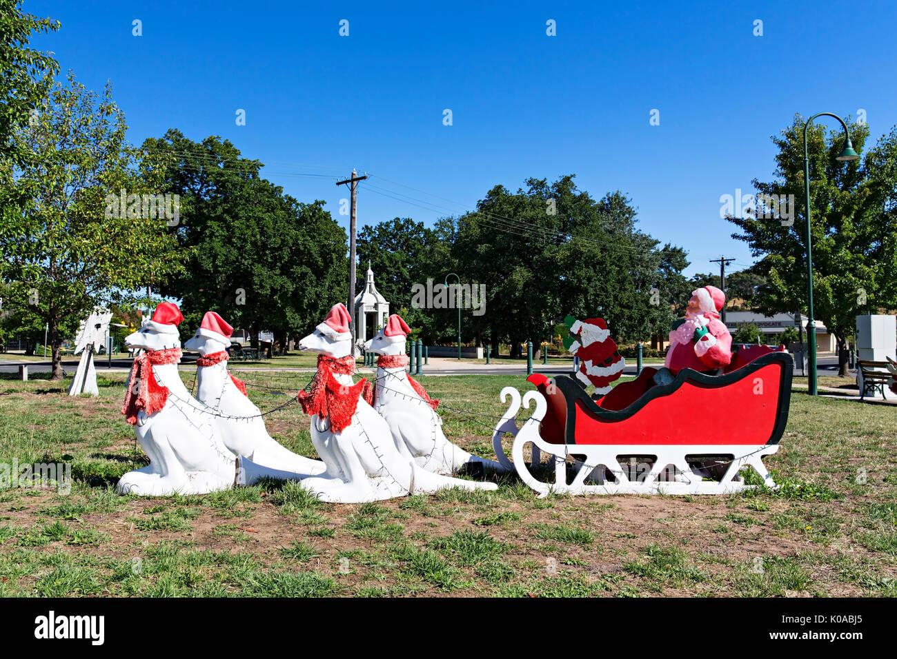 weihnachten in beaufort victoria australien ein k nguru weihnachten schlitten beaufort ist ein