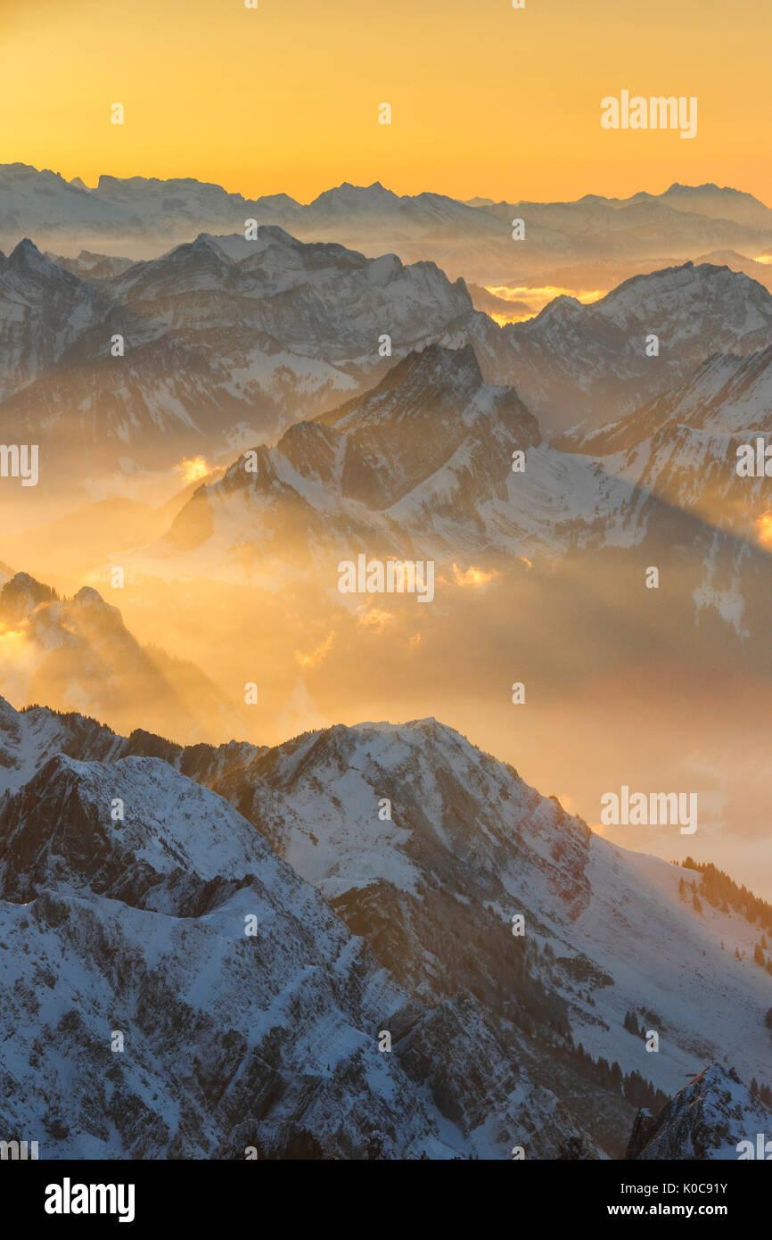 Mattstock, Ostschweizer Alp, Schweiz Stockbild