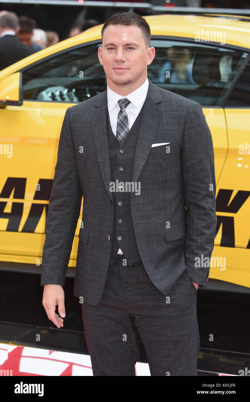 "Channing Tatum,"" Logan Lucky'-UK Premiere Vue West End, den Leicester Square, London, UK Stockbild"