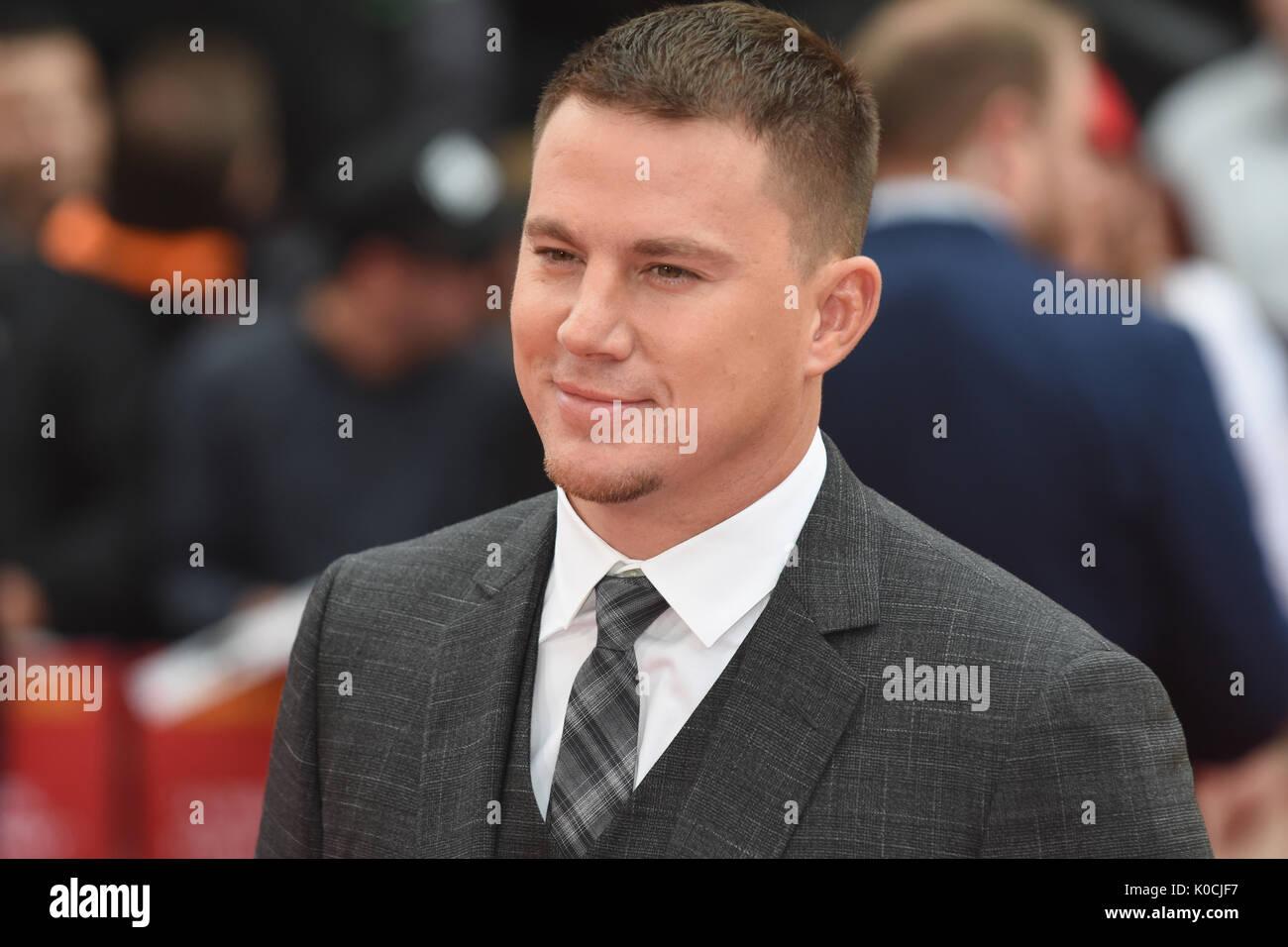 "Channing Tatum,"" Logan Lucky'-UK Premiere Vue West End, den Leicester Square, London, UK Stockfoto"