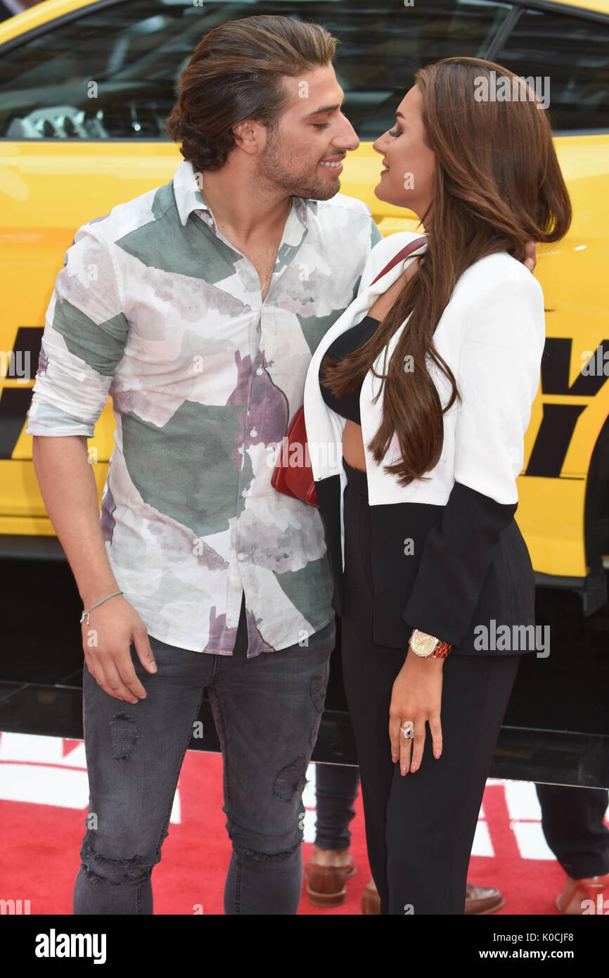 "Kem Cetinay, Amber Davies,"" Logan Lucky'-UK Premiere Vue West End, den Leicester Square, London, UK Stockfoto"