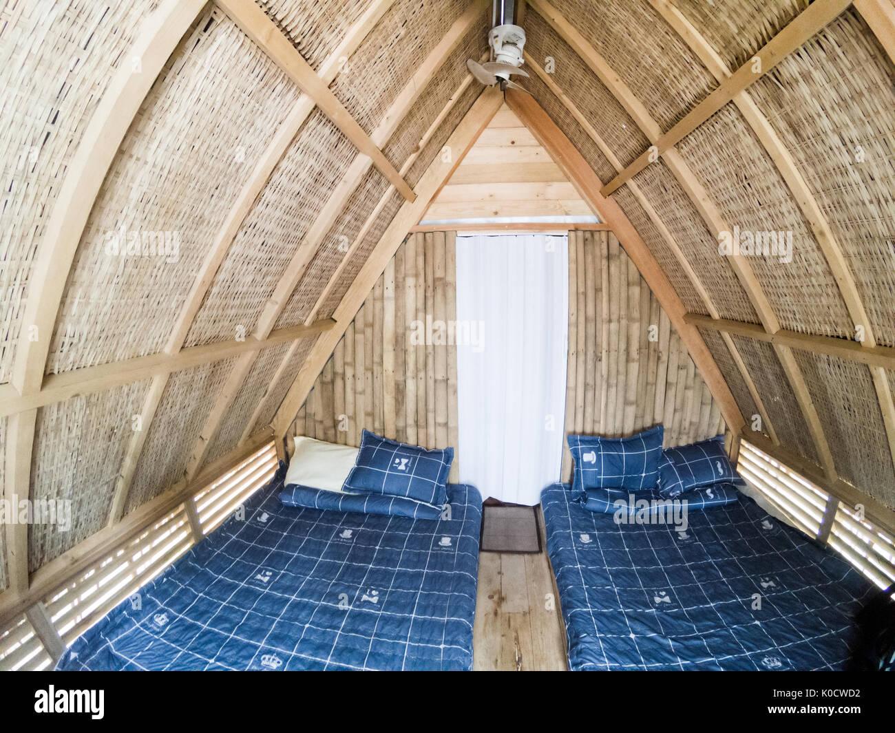 Bambus Bett Schlafzimmer Haus Bungalow Möbel Zimmer Architektur Home