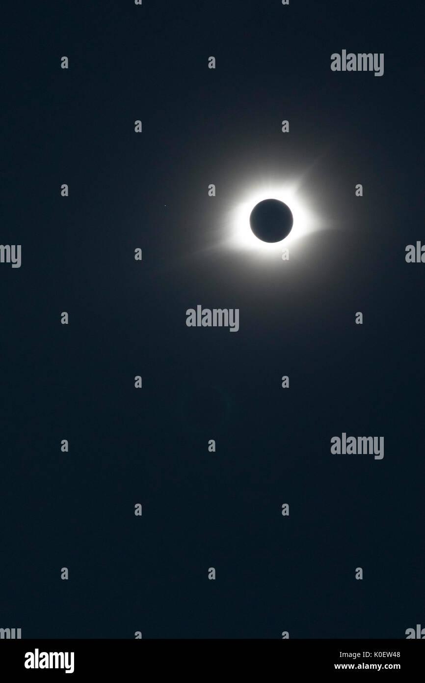 Arnold, United States. 21 Aug, 2017. Eine totale Sonnenfinsternis, wie in der Nebraska Sandhills gesehen. Quelle: Jim West/Alamy leben Nachrichten Stockbild