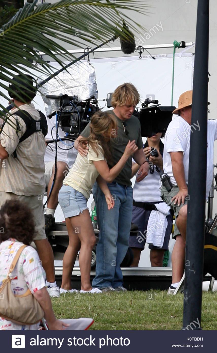 Jennifer Aniston Und Owen Wilson Hängen Zwischen Filmen Szenen Für