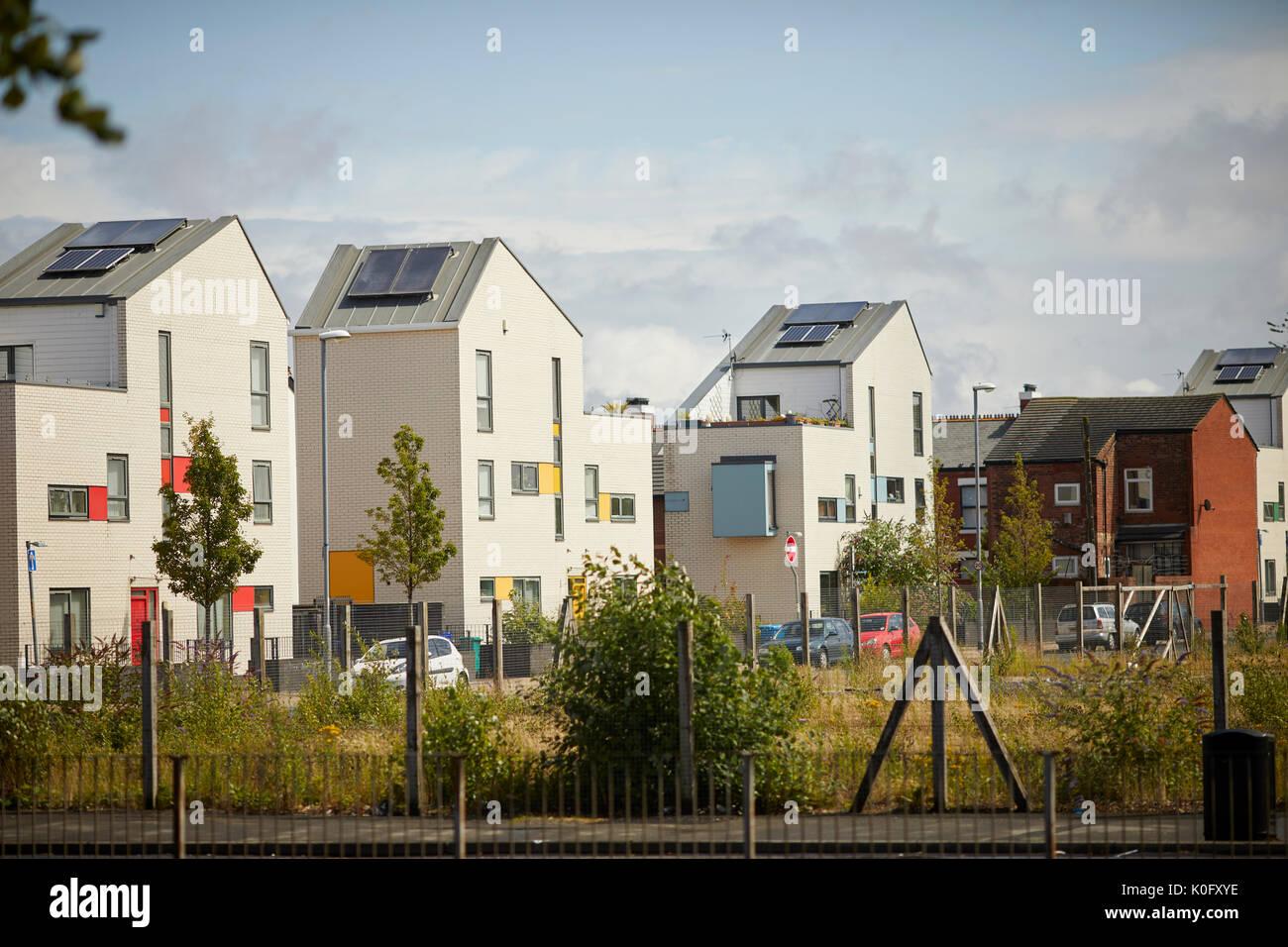 Modern Contemporary Houses Terraced Stockfotos & Modern Contemporary ...