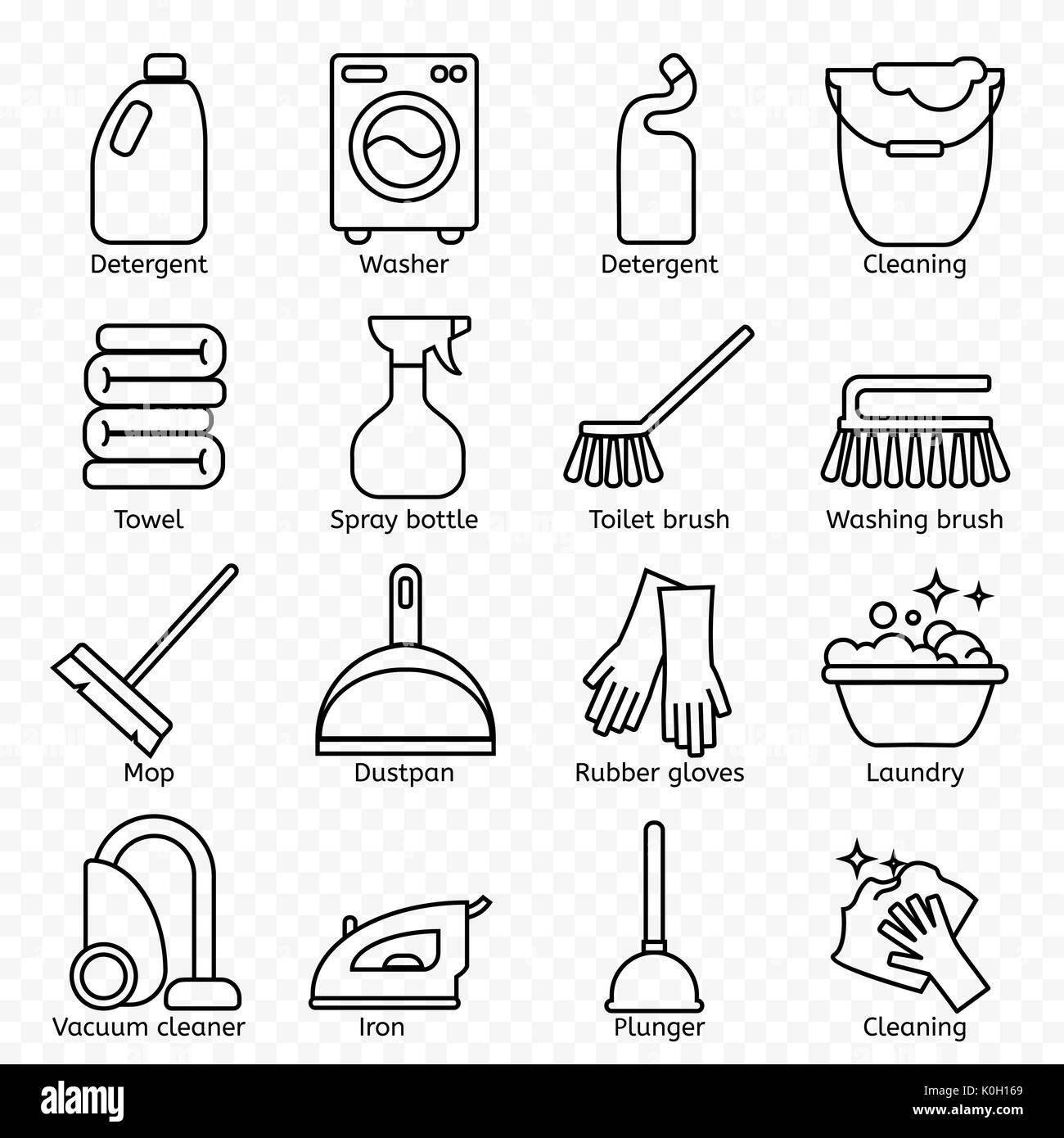 Reinigung Waschen Sie Zeile Für Symbole Waschmaschine Schwamm