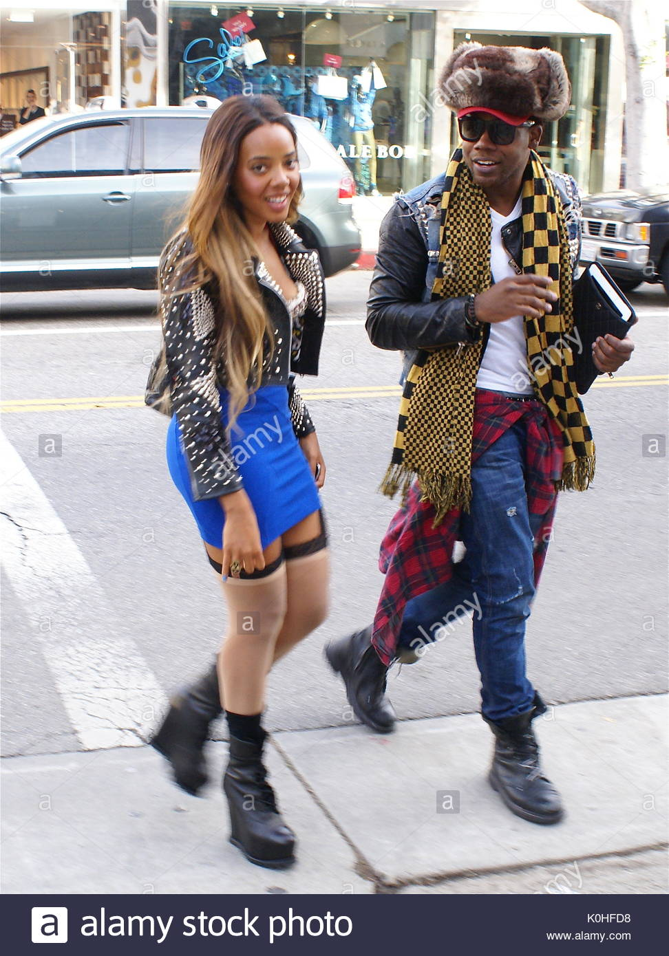 Angela Simmons Angela Simmons In West Hollywood Die Lauft Star