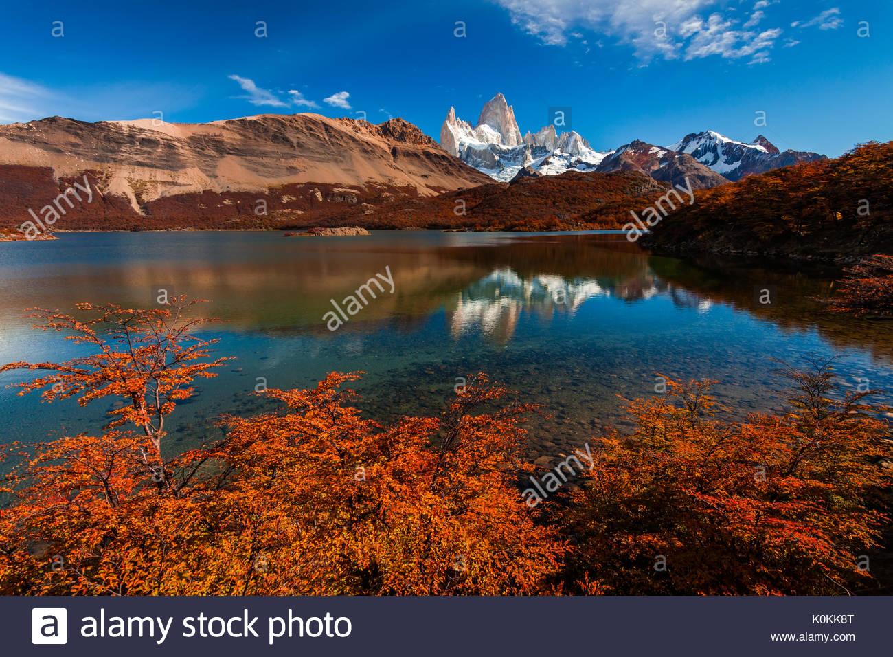 Mount Fitz Roy. Patagonien, Argentinien. Stockbild