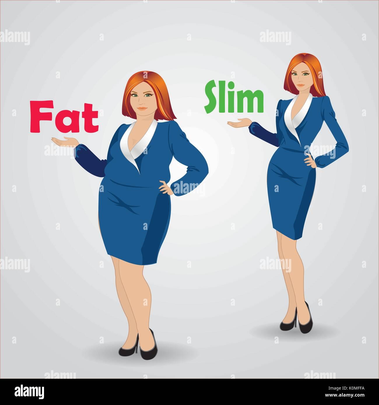 dünne Mädchen oder dicke Mädchen