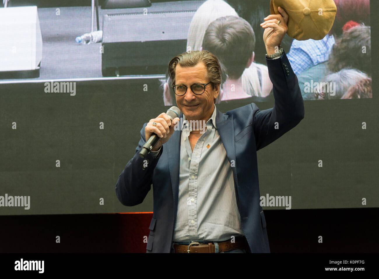 Am 1.Juli 2017 Stuttgart, Deutschland.us Schauspieler Dirk Benedict und Herbert Jefferson, jr. Während ihrer 'a Stockfoto