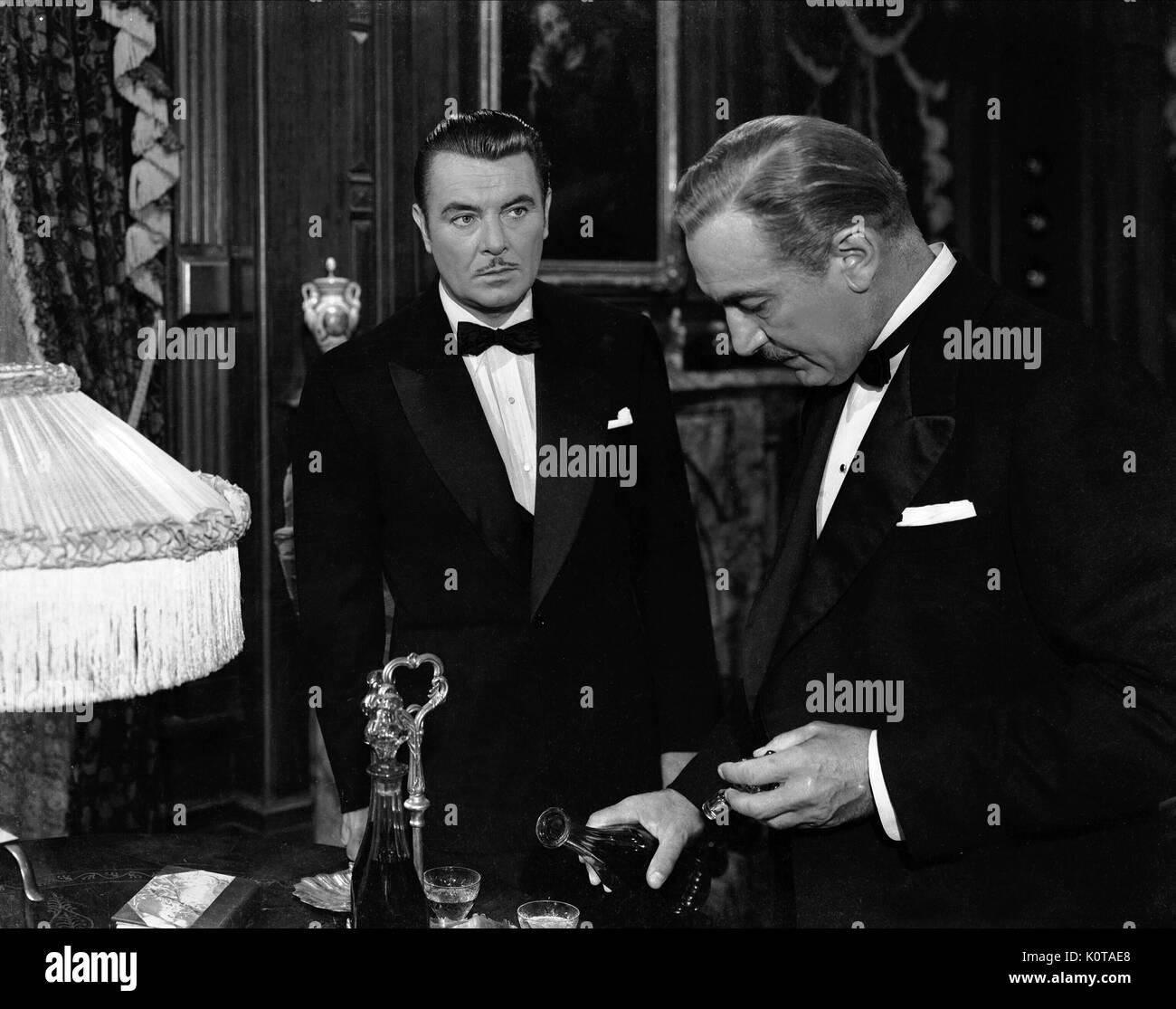 GEORGE BRENT & PAUL LUKAS EXPERIMENT PERILOUS (1944) Stockbild