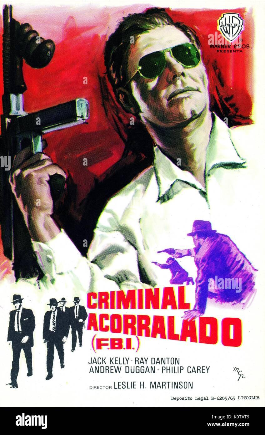 Filmplakat FBI-Code 98 (1968) Stockbild