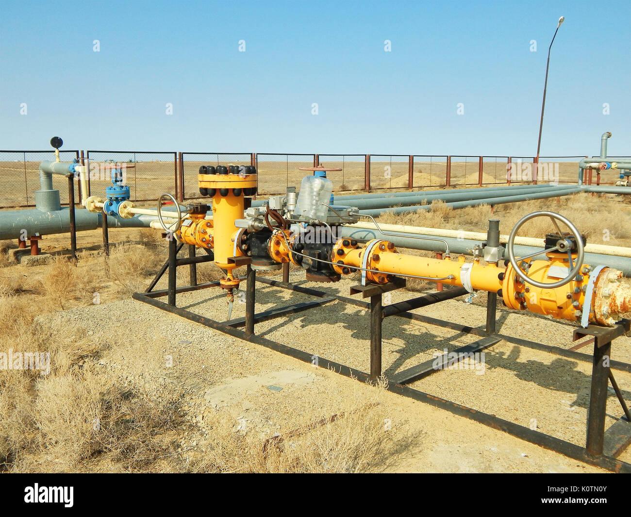 Kraftstoffleitung, die Öl-Heizung Ofen Gas Stockfoto, Bild ...