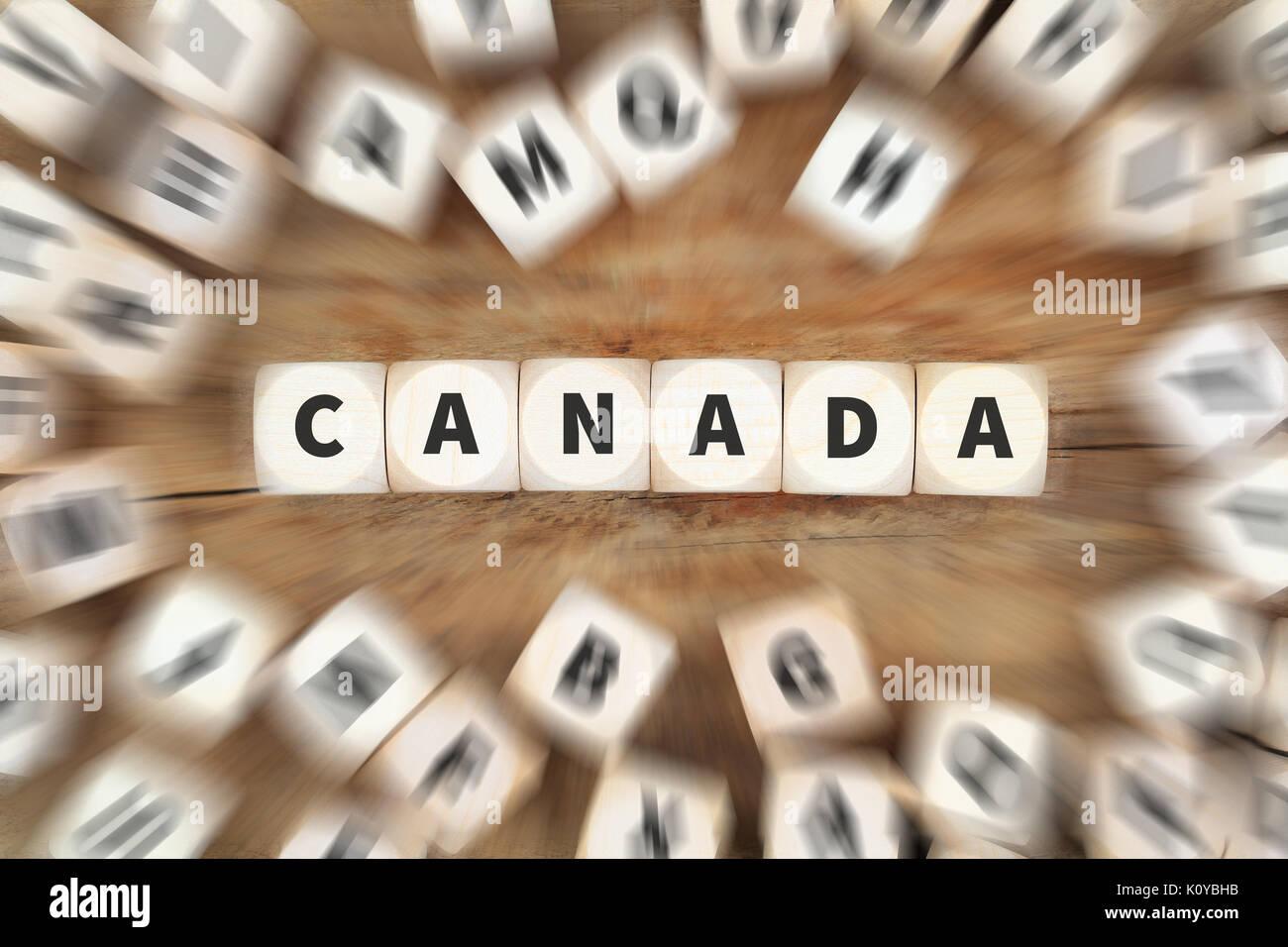 Kanada Würfel Business Konzept Idee Ideen Cube Stockbild