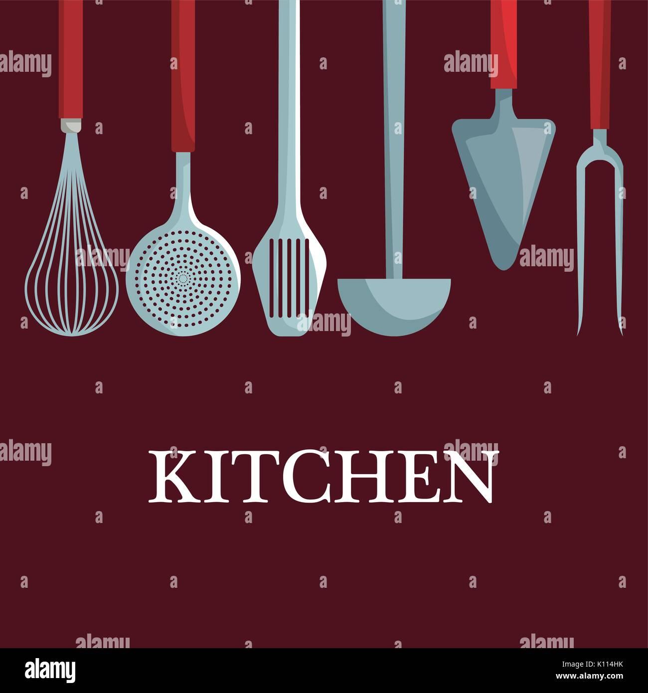 Kitchen Utensils Illustration Stockfotos & Kitchen Utensils ...
