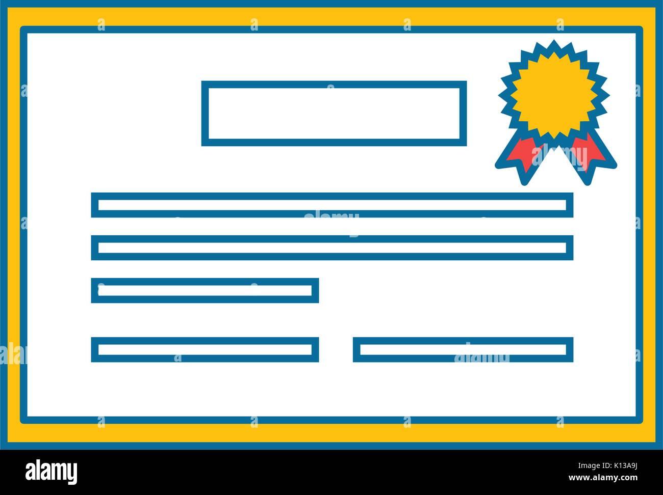 Certification Vector Vectors Stockfotos & Certification Vector ...