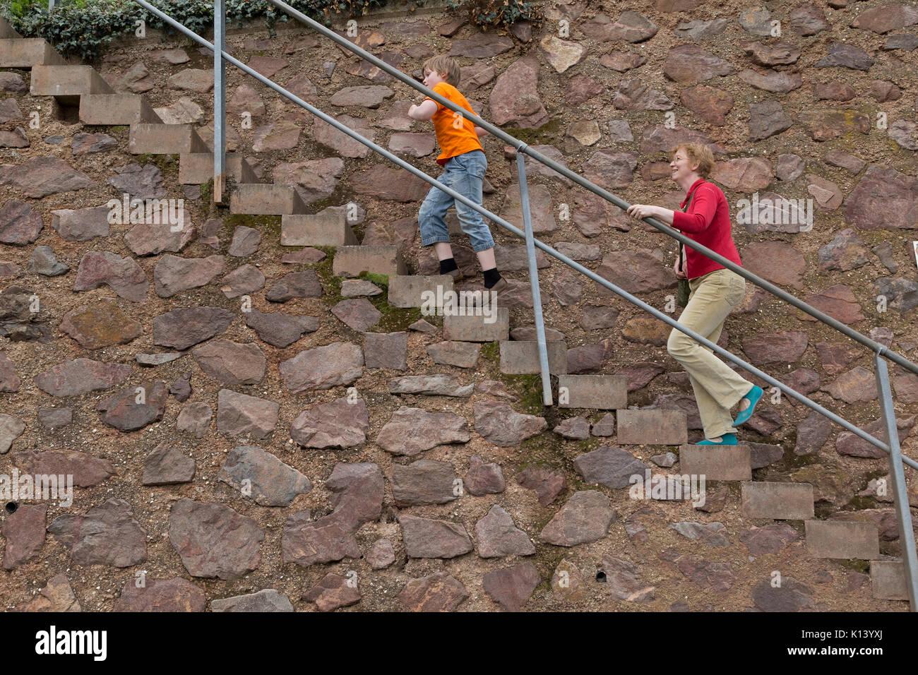 Klettersteig Mosel : Mutter und sohn auf klettersteig uerzig mosel rheinland pfalz